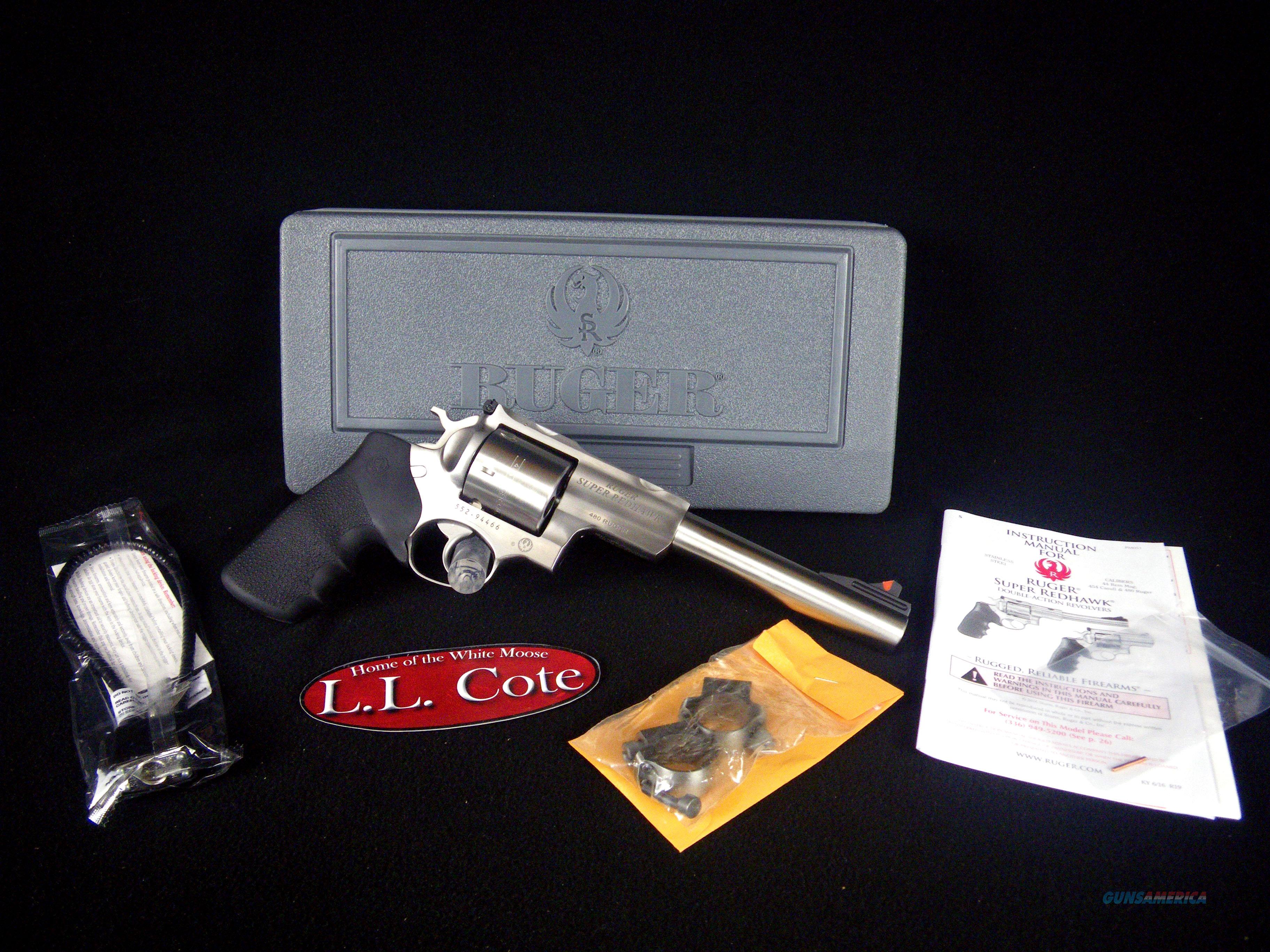 "Ruger Super Redhawk 480 Ruger 7.5"" SS NEW 5507  Guns > Pistols > Ruger Double Action Revolver > Redhawk Type"