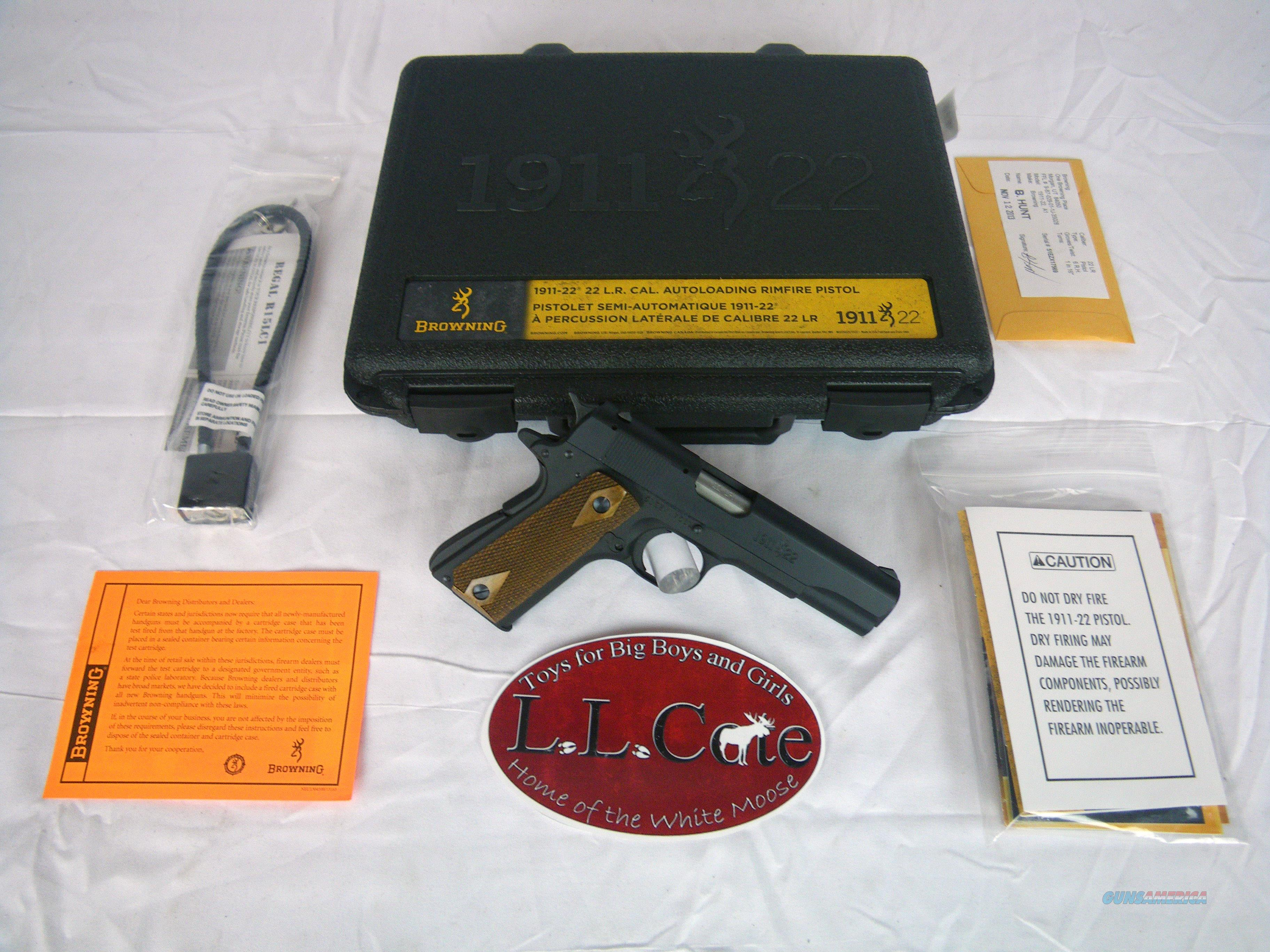 """Browning 1911-22 A1 22lr 4 1/4"""" New #051802490  Guns > Pistols > Browning Pistols > Other Autos"""