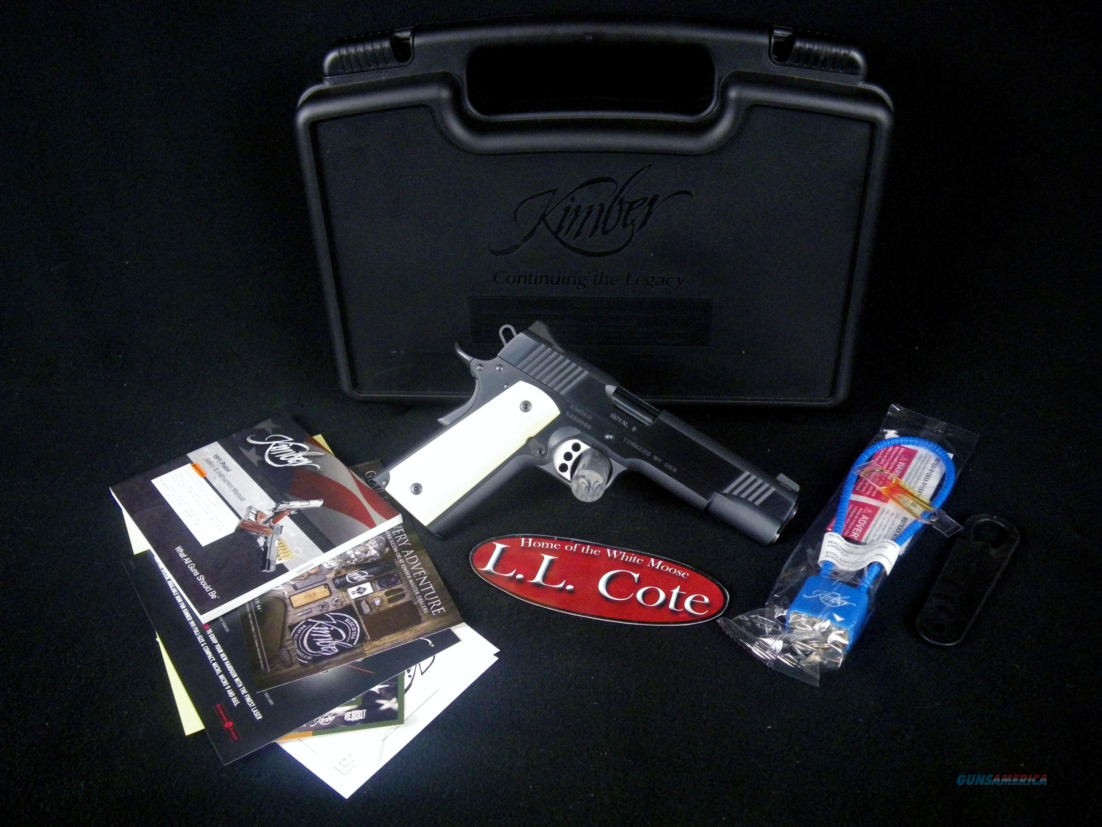 "Kimber Royal II 45acp 5"" Bone Grips NEW 3200263  Guns > Pistols > Kimber of America Pistols > 1911"
