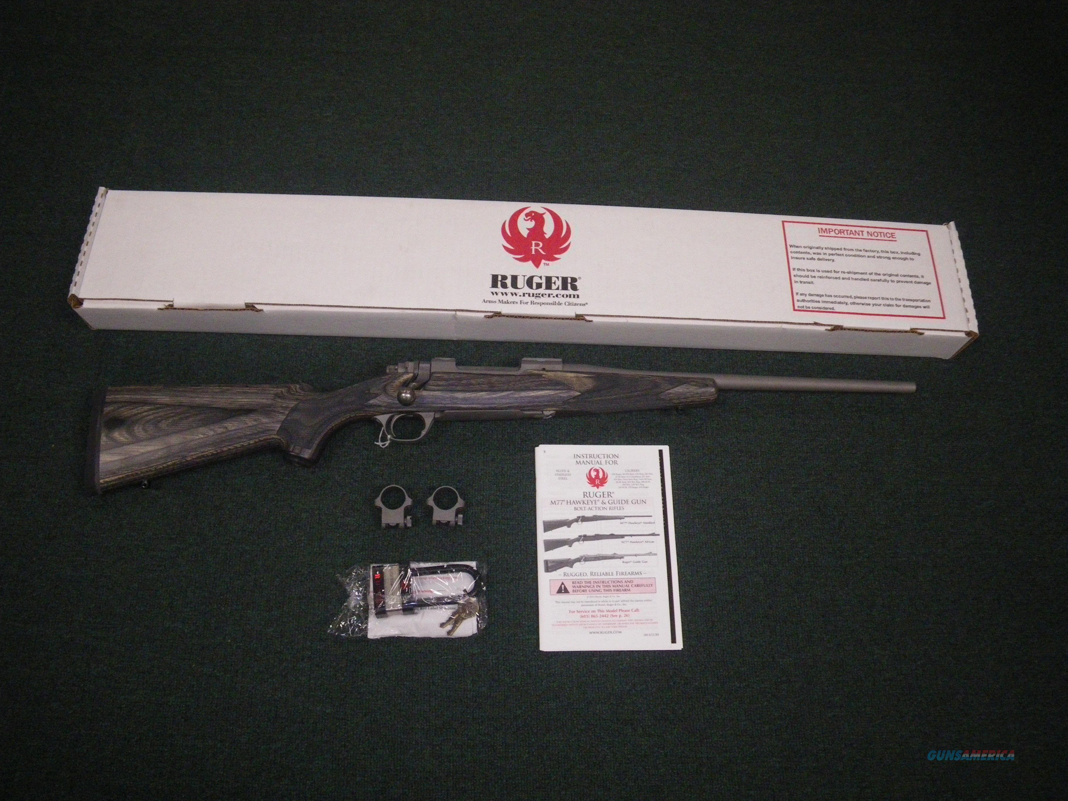 """Ruger M77 Hawkeye Stainless Compact 16.5"""" 7mm-08 Rem #17111  Guns > Rifles > Ruger Rifles > Model 77"""