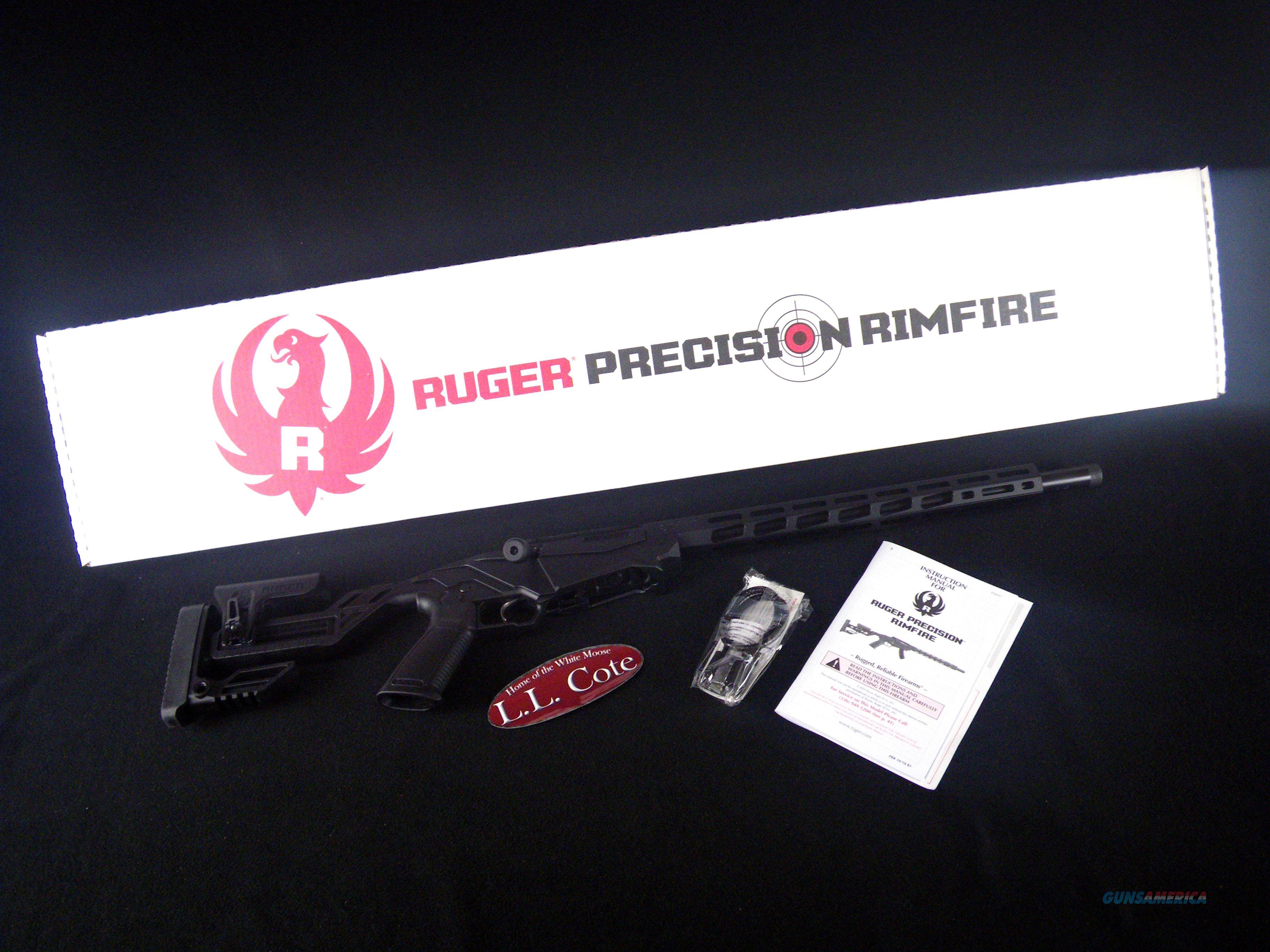 """Ruger Precision Rimfire Black 22WMR 18"""" NEW 8405 UPC:  Guns > Rifles > Ruger Rifles > Precision Rifle Series"""