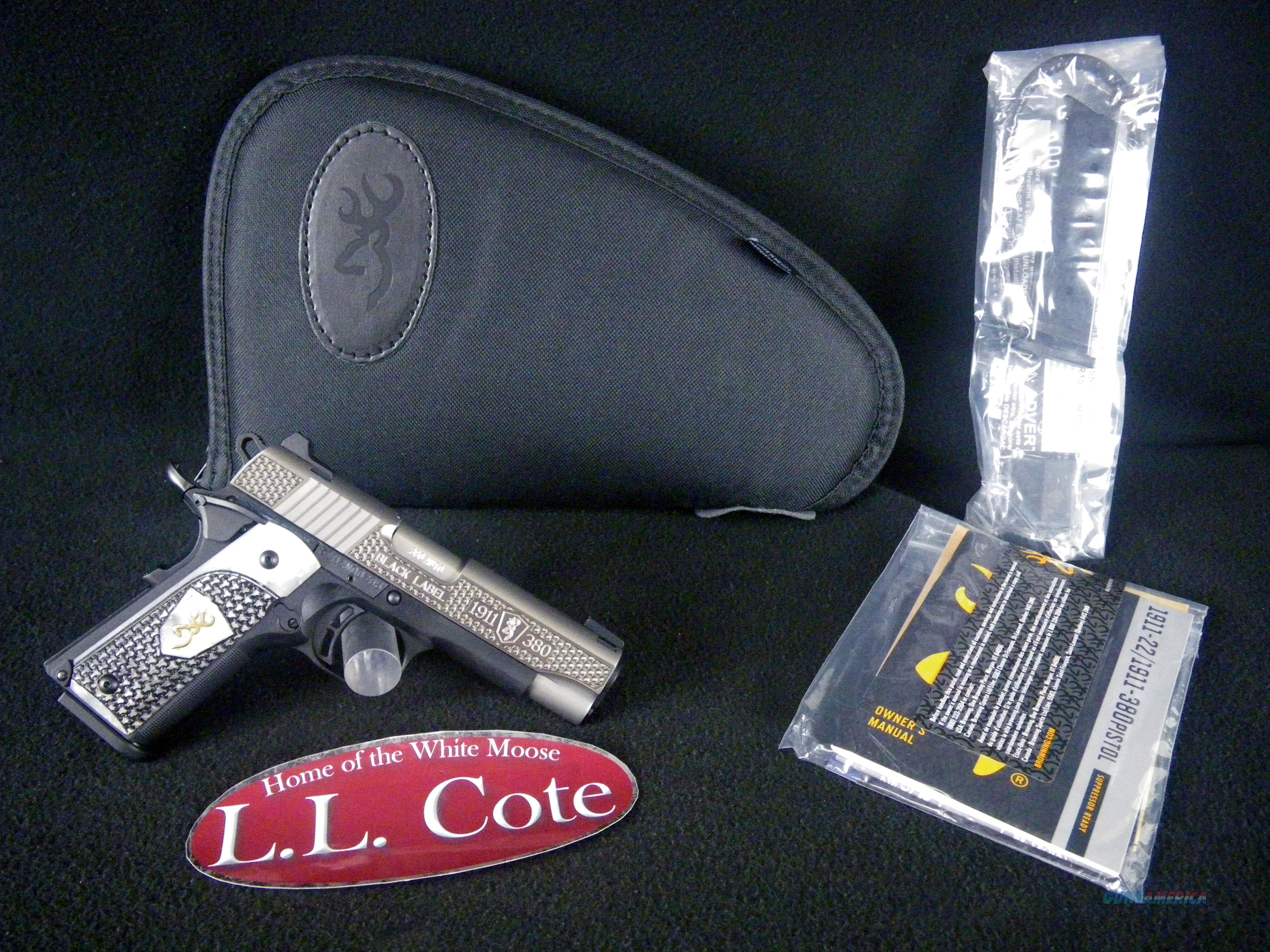 "Browning 1911-380 Black Label Pearl 380ACP 3-5/8"" 051959492  Guns > Pistols > Browning Pistols > Other Autos"