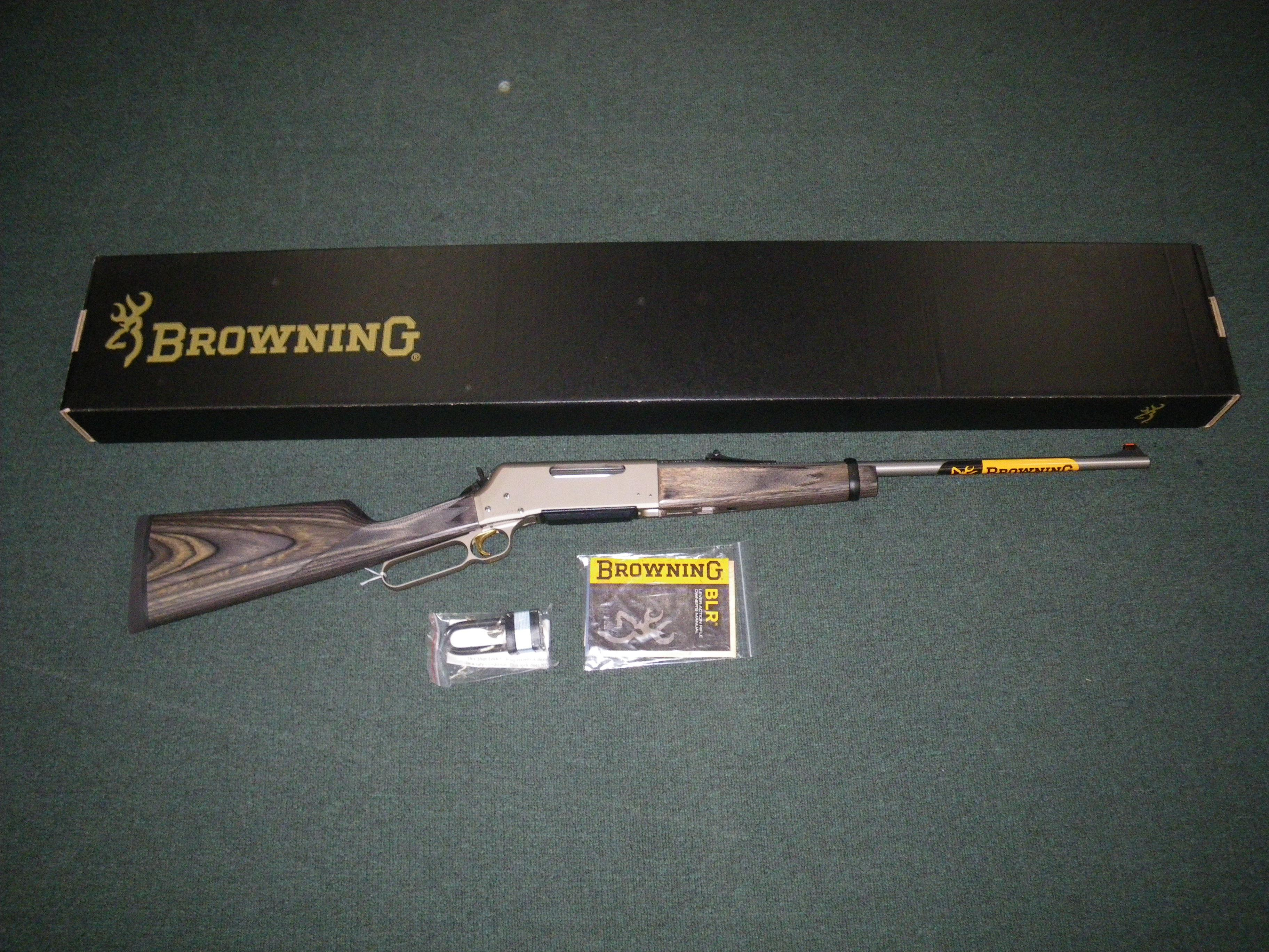 "Browning BLR '81 Stainless Takedown 300 WSM 22"" #034015146  Guns > Rifles > Browning Rifles > Lever Action"