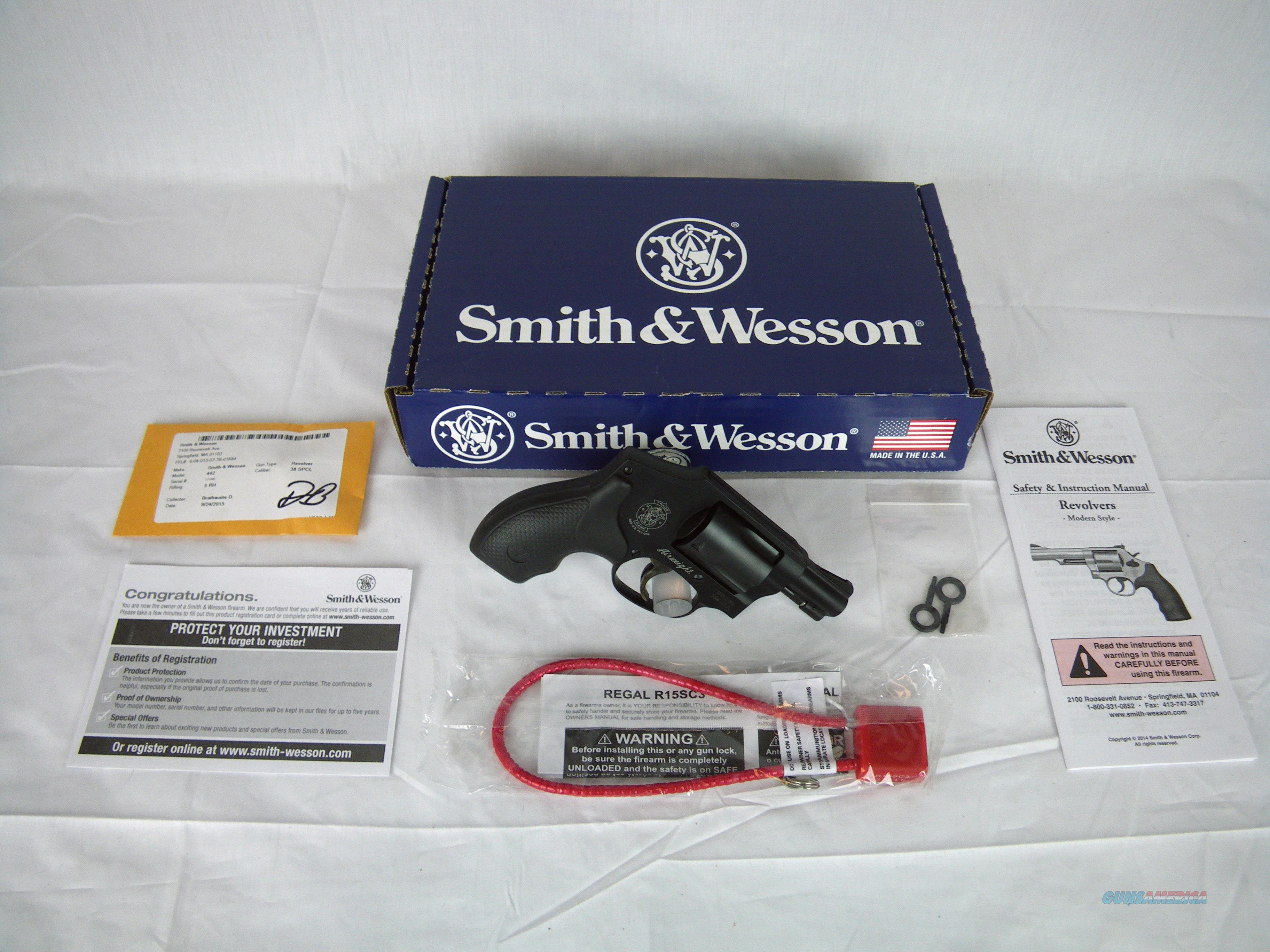 """Smith & Wesson Model 442 Airweight 38 Spl+P 1.875"""" #162810  Guns > Pistols > Smith & Wesson Revolvers > Small Frame ( J )"""