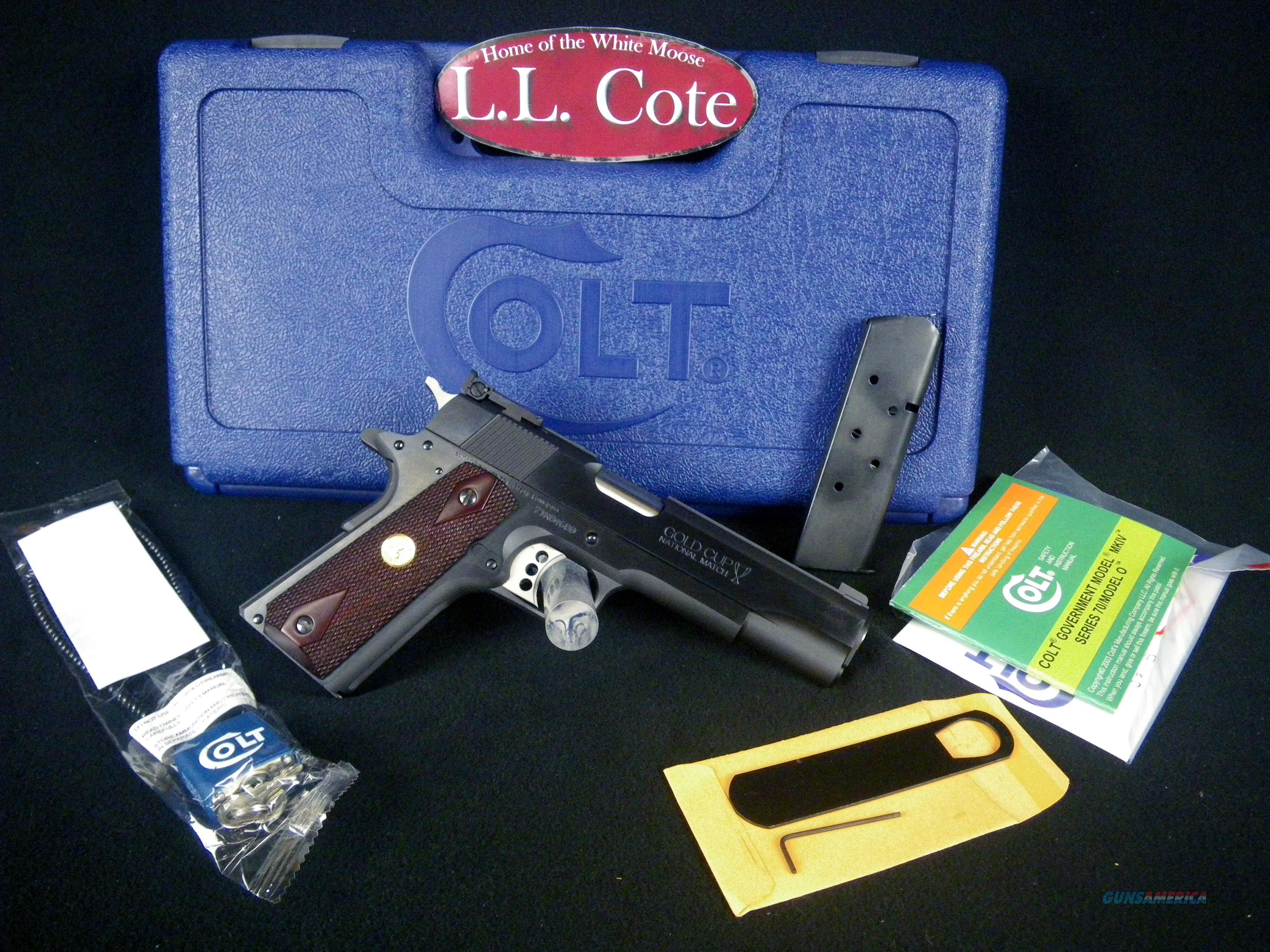 "Colt Gold Cup National Match 45acp 5"" NEW O5870A1  Guns > Pistols > Colt Automatic Pistols (1911 & Var)"