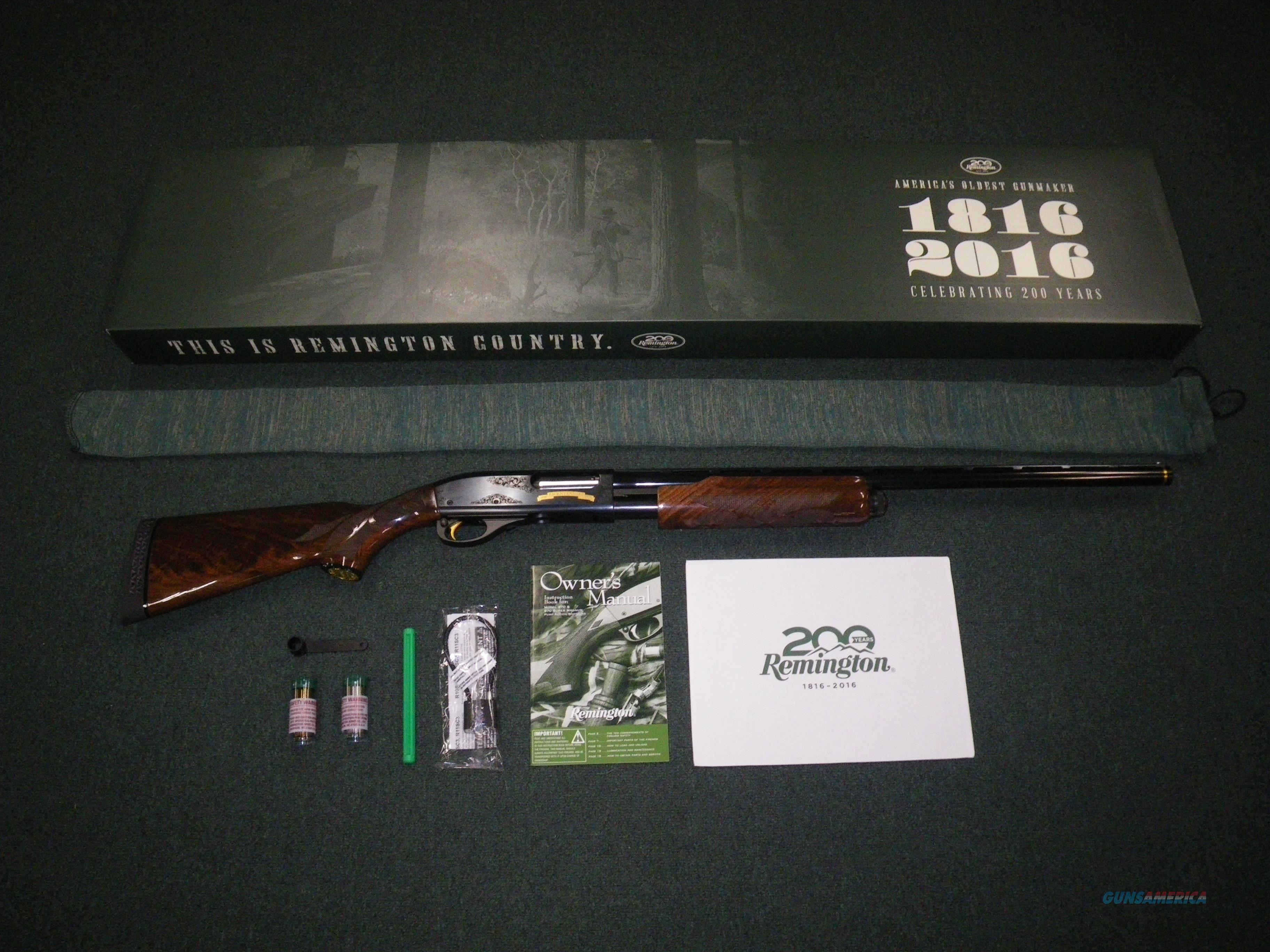"Remington 870 Wingmaster 200th Anniv 12ga 26"" NEW #82089  Guns > Shotguns > Remington Shotguns  > Pump > Hunting"