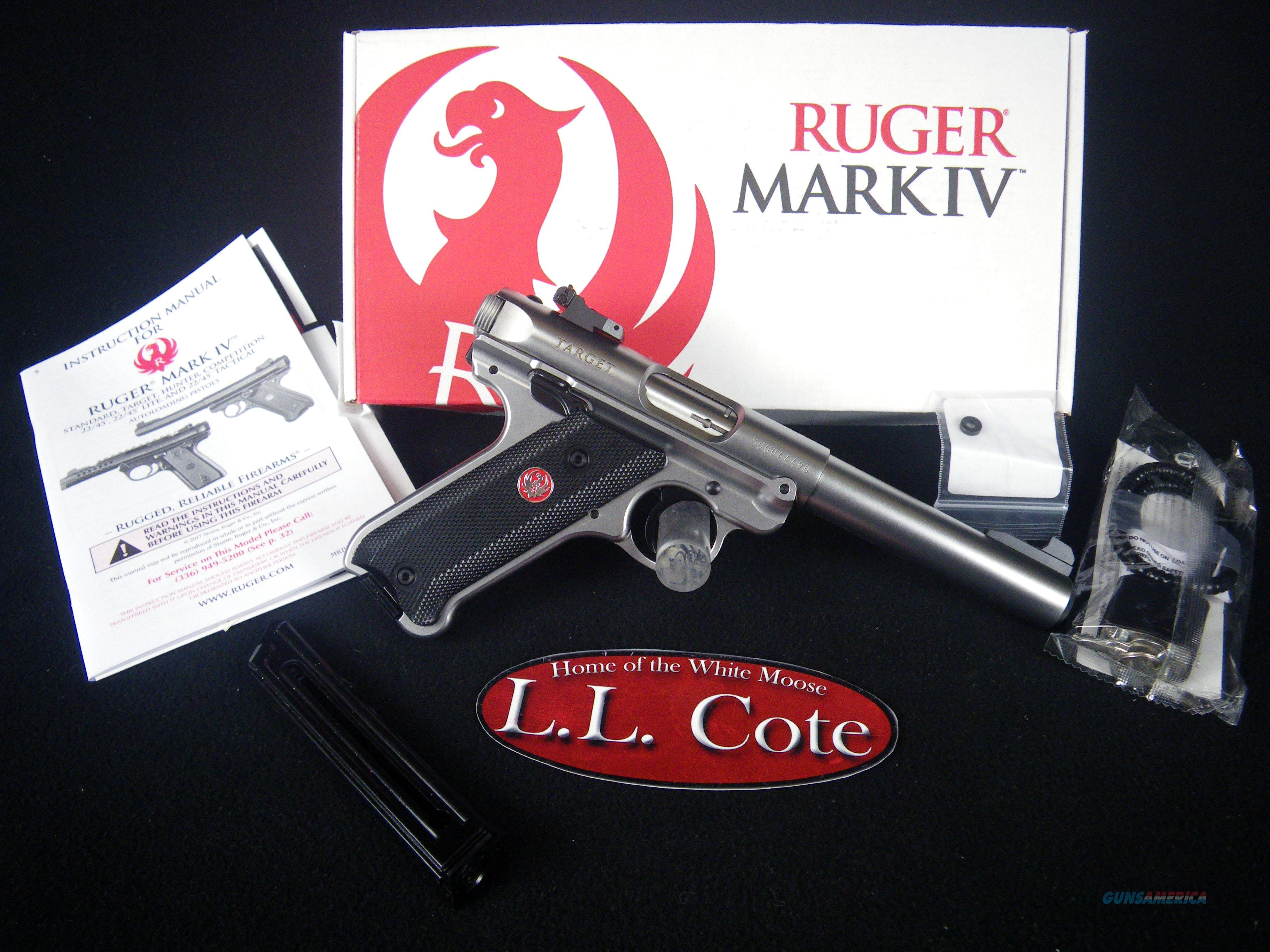 "Ruger Mark IV Target 22lr 5.5"" Stainless NEW 40103  Guns > Pistols > Ruger Semi-Auto Pistols > Mark I/II/III/IV Family"