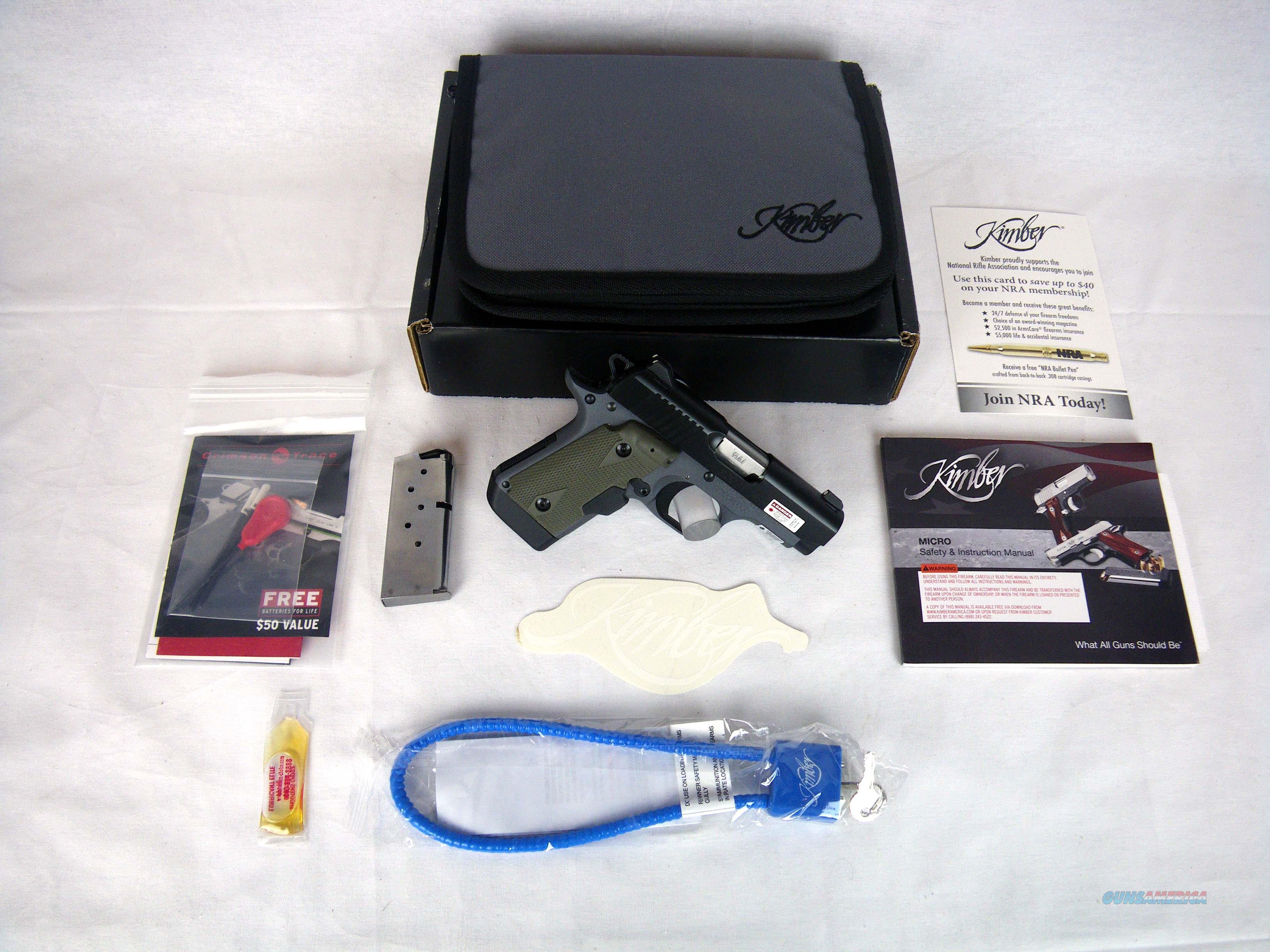 "Kimber Micro 9 Woodland Night (LG) 9mm 3.15"" NEW 3300178  Guns > Pistols > Kimber of America Pistols > Micro 9"