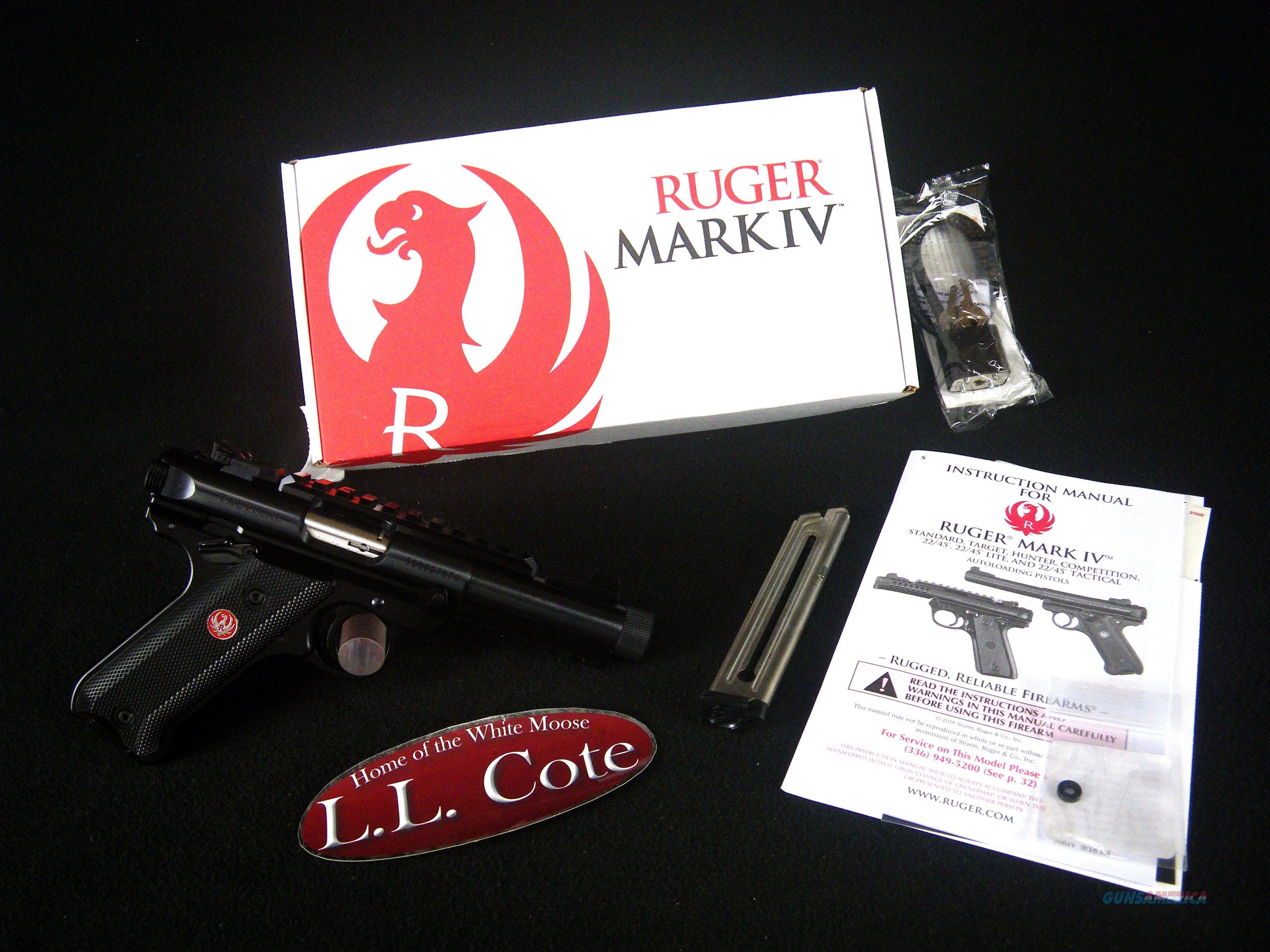 "Ruger Mark IV Tactical Threaded 22lr 4.4"" NEW 40150  Guns > Pistols > Ruger Semi-Auto Pistols > Mark I/II/III/IV Family"