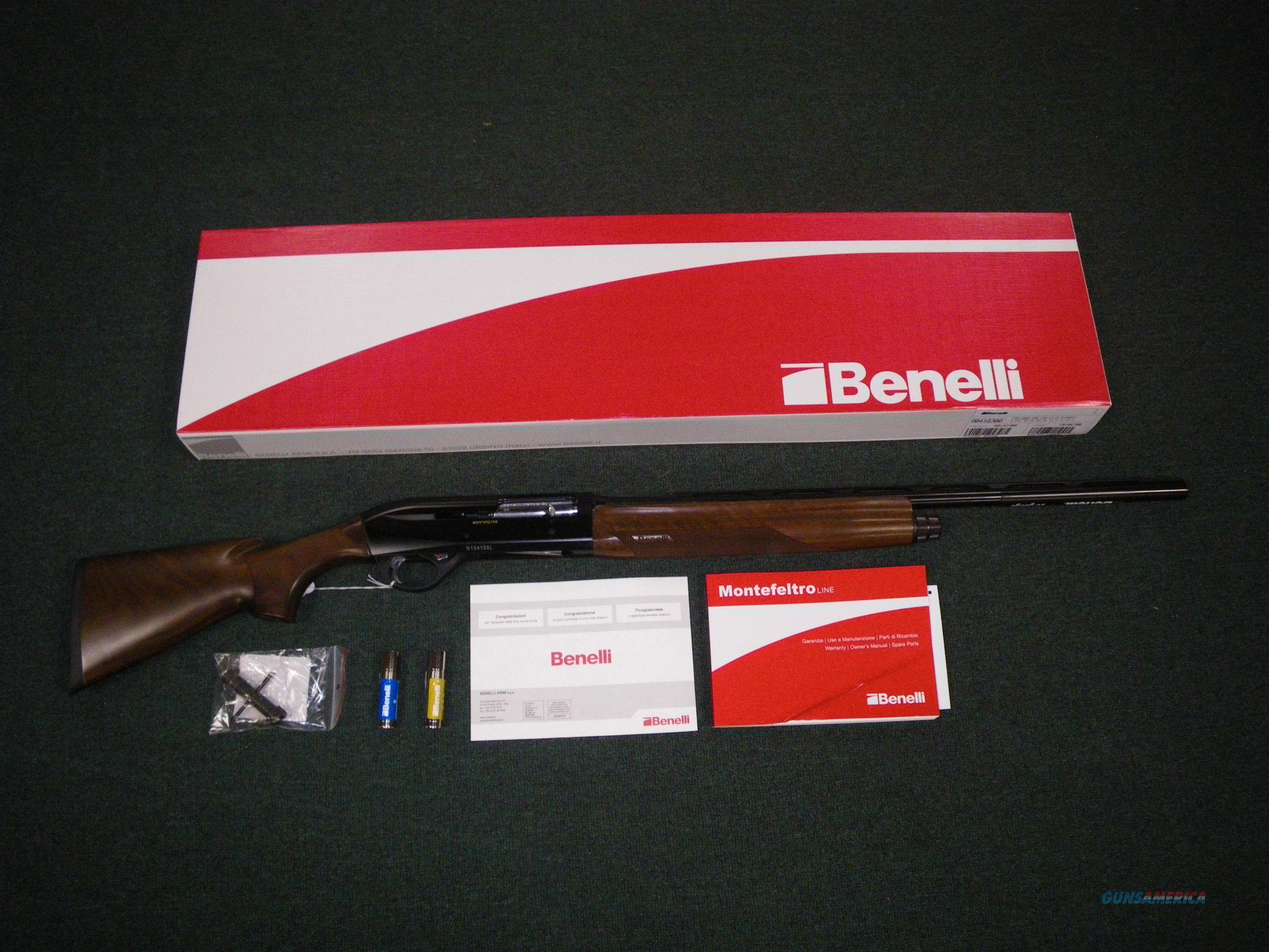 """Benelli Montefeltro Compact Wood/Blue 20ga 24"""" NEW #10868  Guns > Shotguns > Benelli Shotguns > Sporting"""