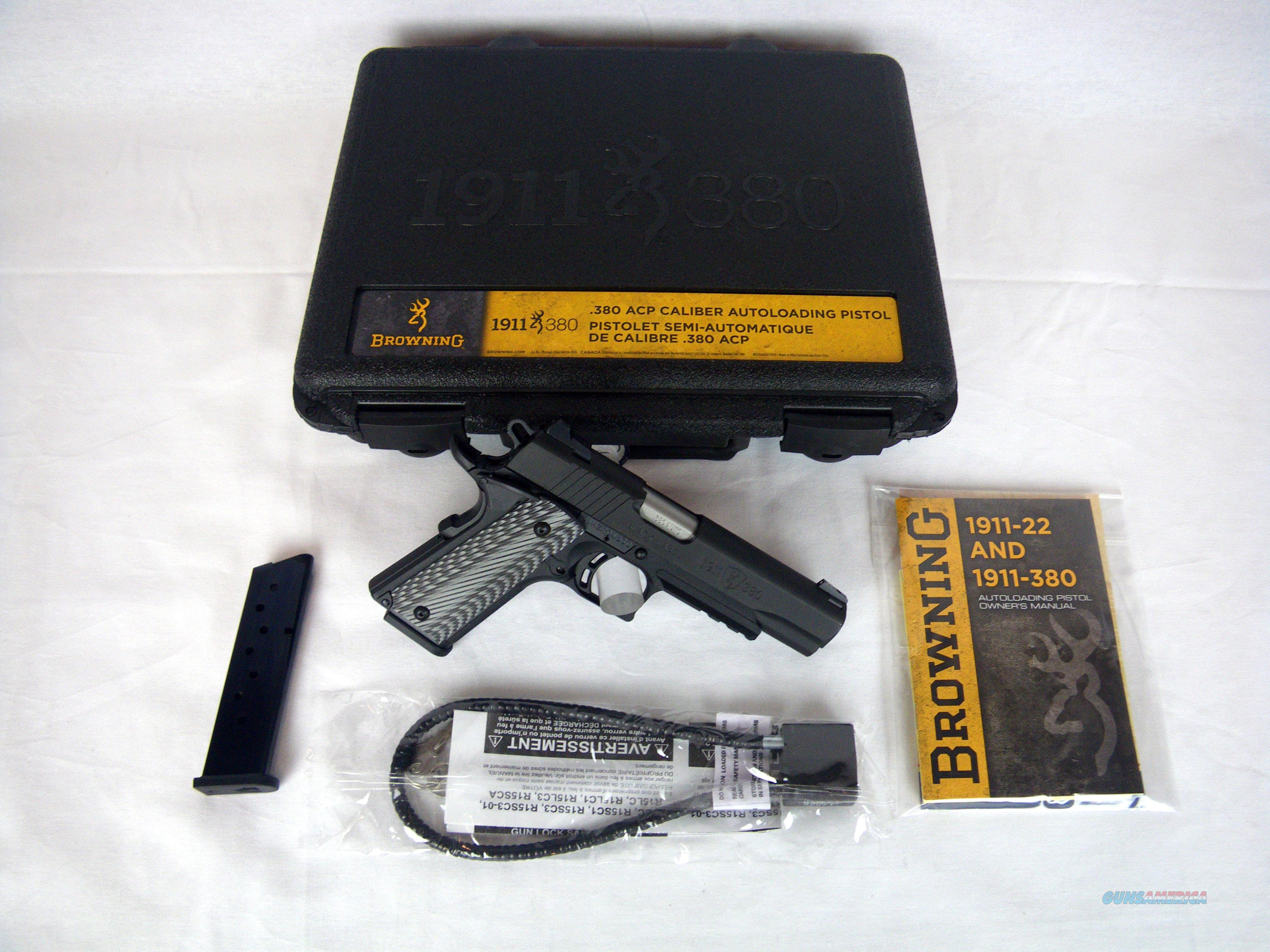 "Browning 1911-380 Black Label Pro 380ACP 4.25"" NEW #051907492  Guns > Pistols > Browning Pistols > Other Autos"