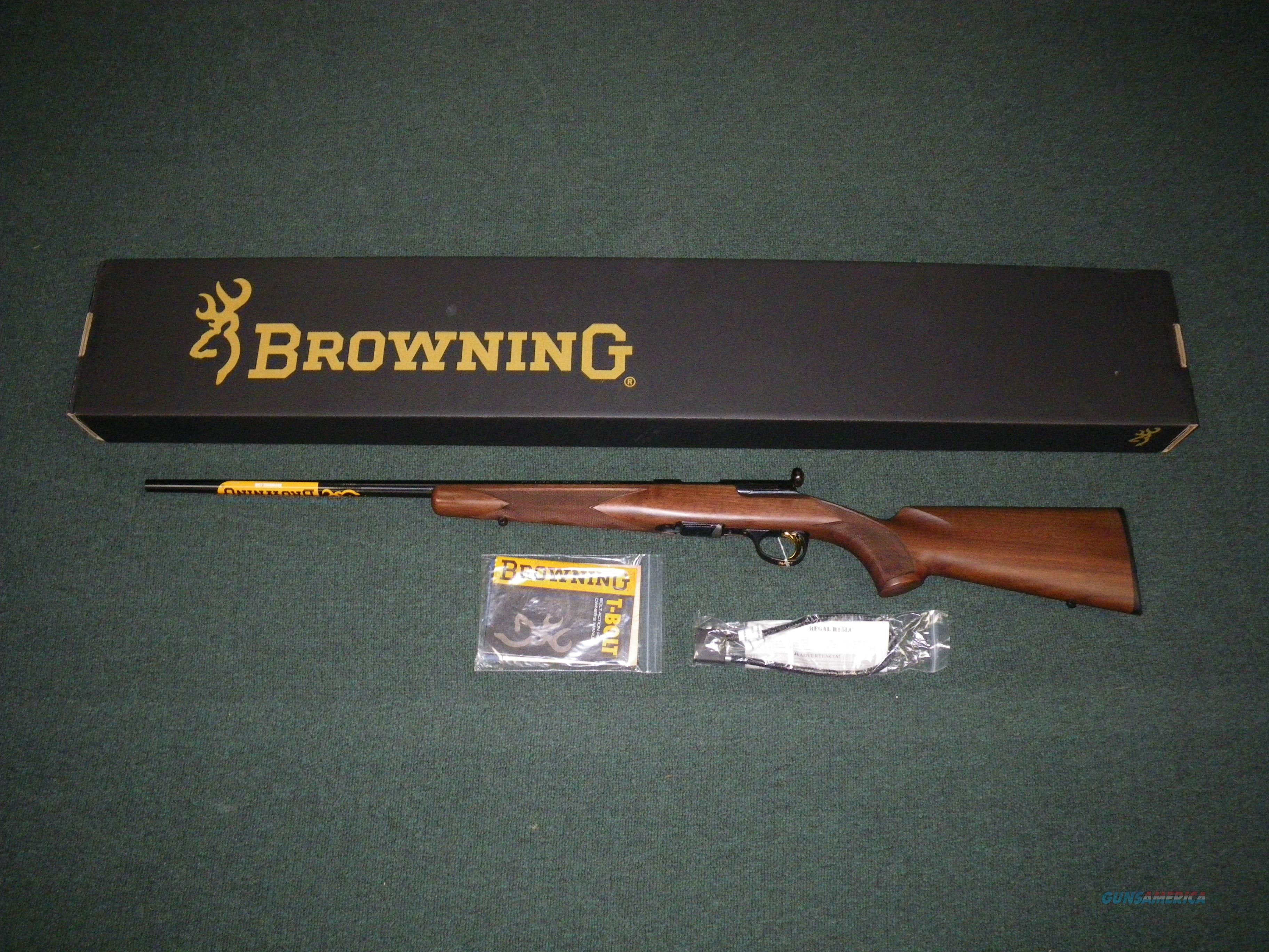 "Browning T-Bolt Sporter Wood Left Hand 22 Mag 22"" #025184204  Guns > Rifles > Browning Rifles > Bolt Action > Hunting > Blue"