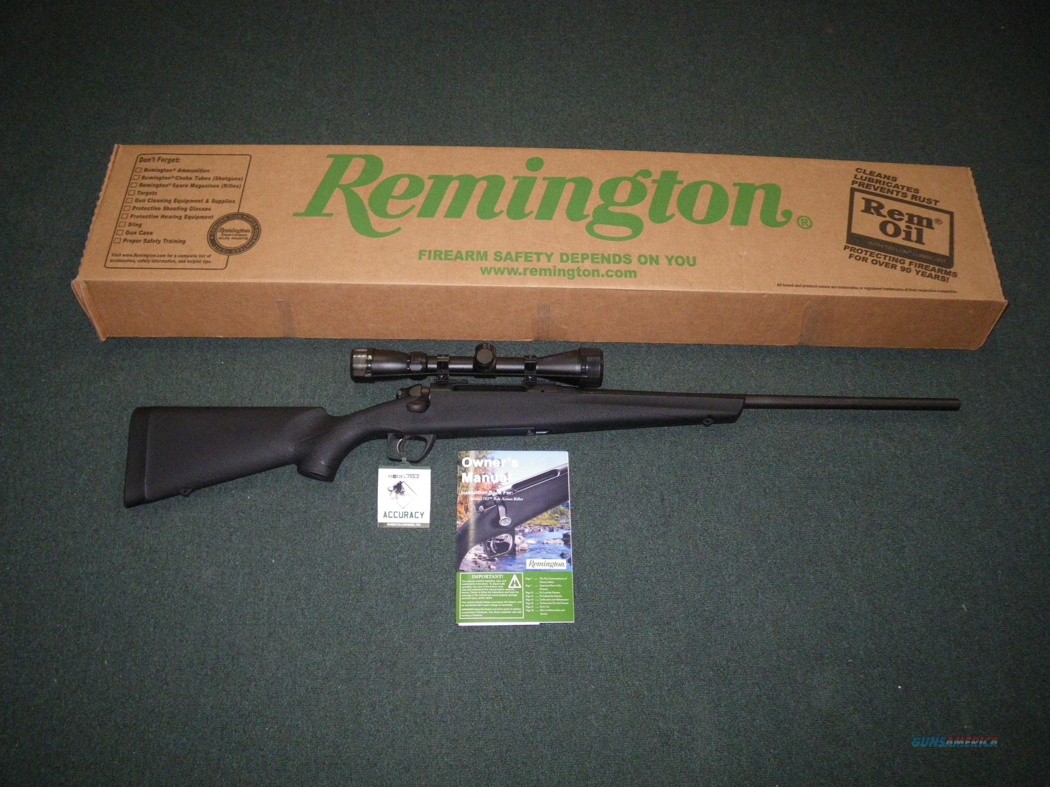 "Remington Model 783 Syn Scoped 308 Win 22"" NEW #85847  Guns > Rifles > Remington Rifles - Modern > Other"