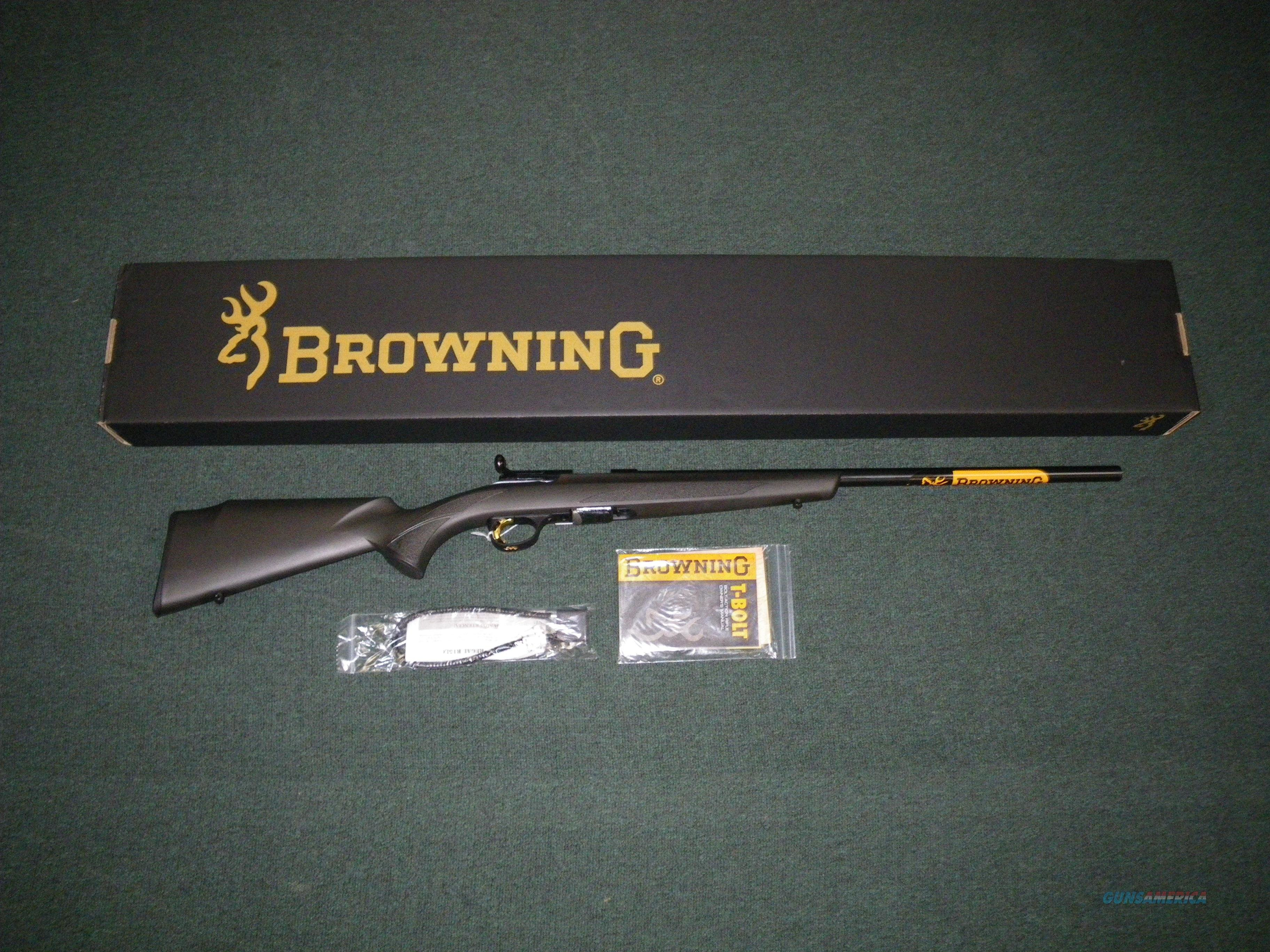 "Browning T-Bolt Target/Varmint Composite 22mag 22"" #025180204  Guns > Rifles > Browning Rifles > Bolt Action > Hunting > Blue"