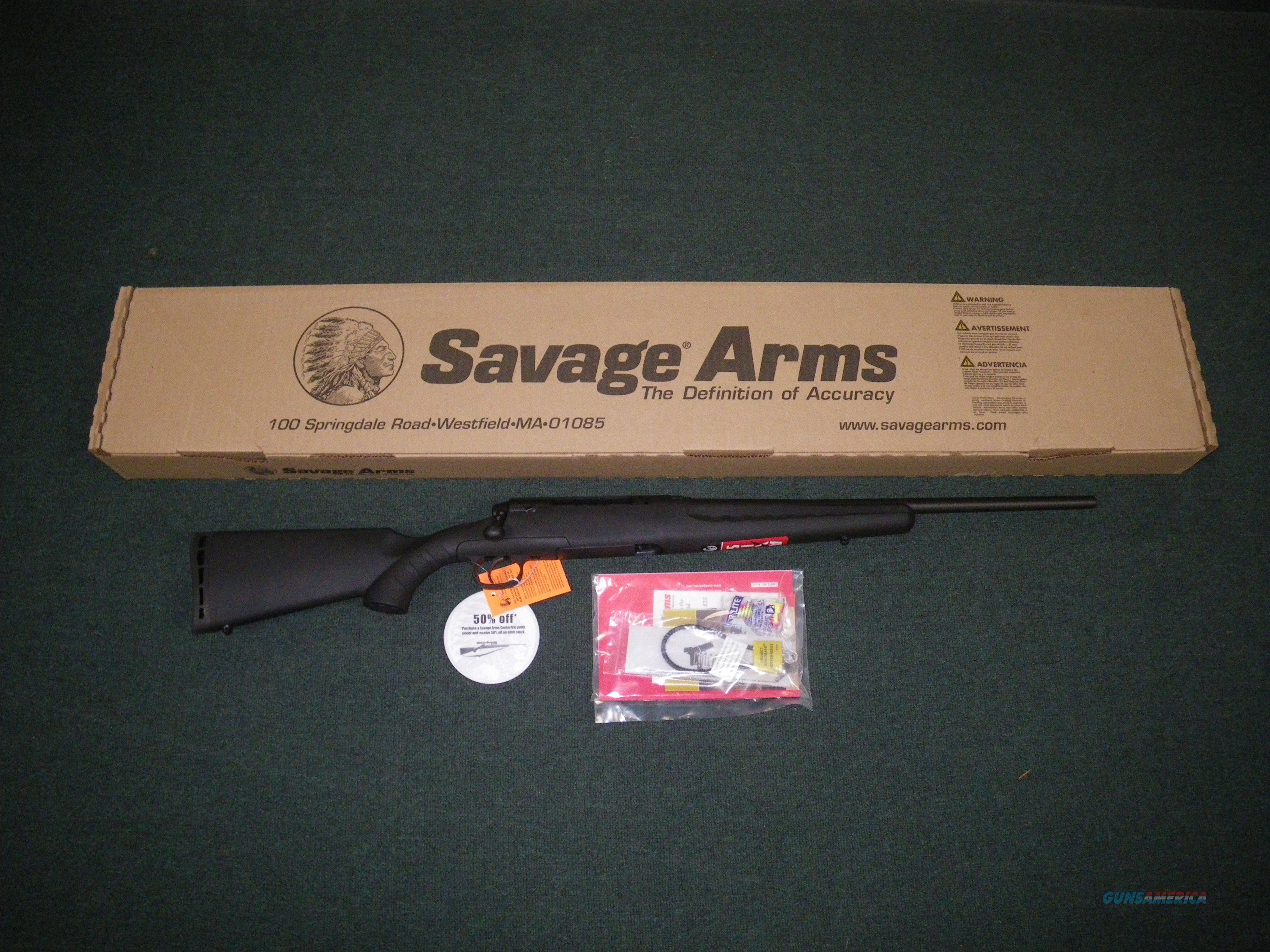 "Savage Axis Youth 7mm-08 Rem 20"" Black NEW #19196  Guns > Rifles > Savage Rifles > Axis"