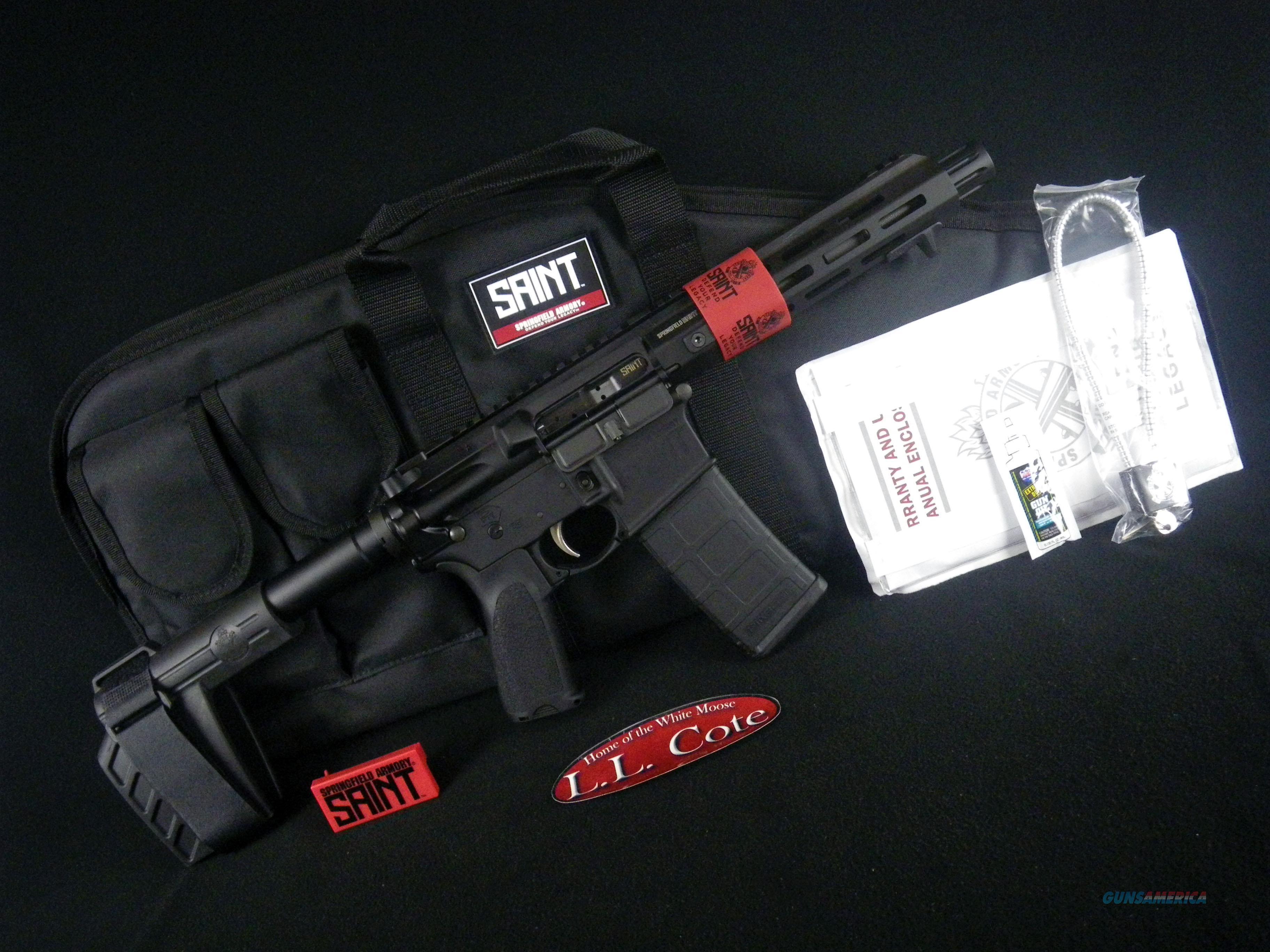 "Springfield Saint AR-15 Pistol 5.56 NATO 7.5"" NEW ST975556B  Guns > Pistols > Springfield Armory Pistols > SAINT Pistol"