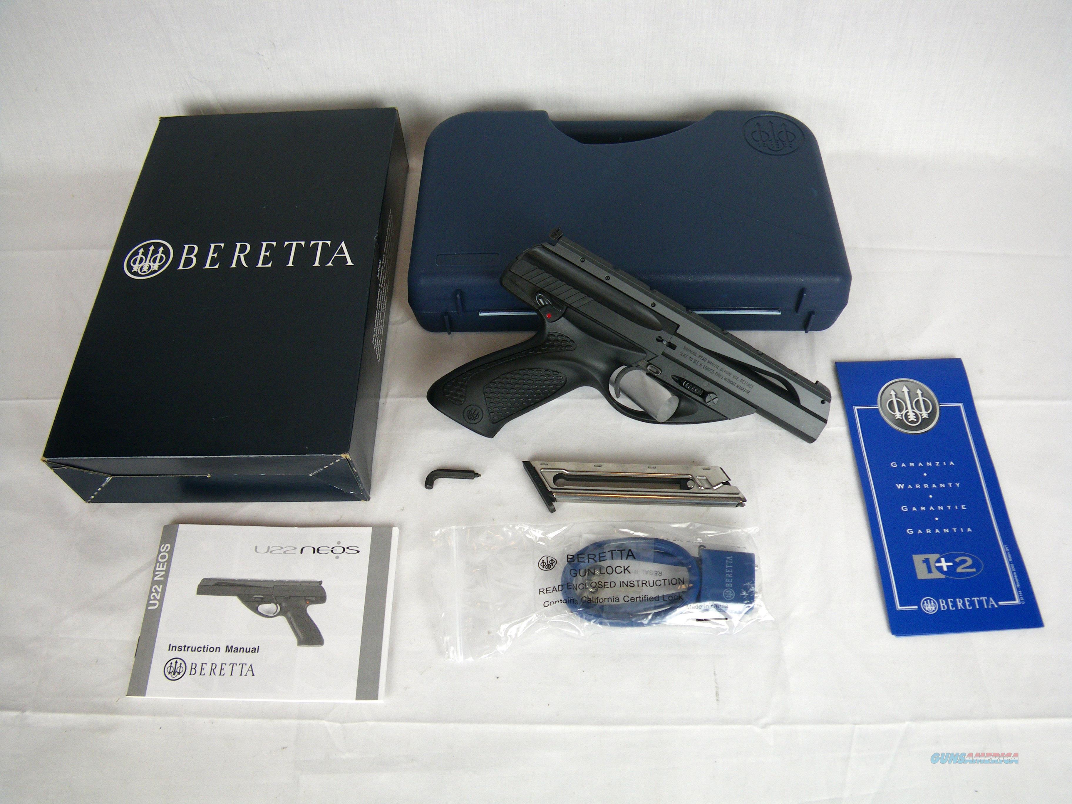 "Beretta U22 Neos 22lr 4.5"" Black/Synthetic NEW #JU2S45B  Guns > Pistols > Beretta Pistols > Small Caliber Tip Out"