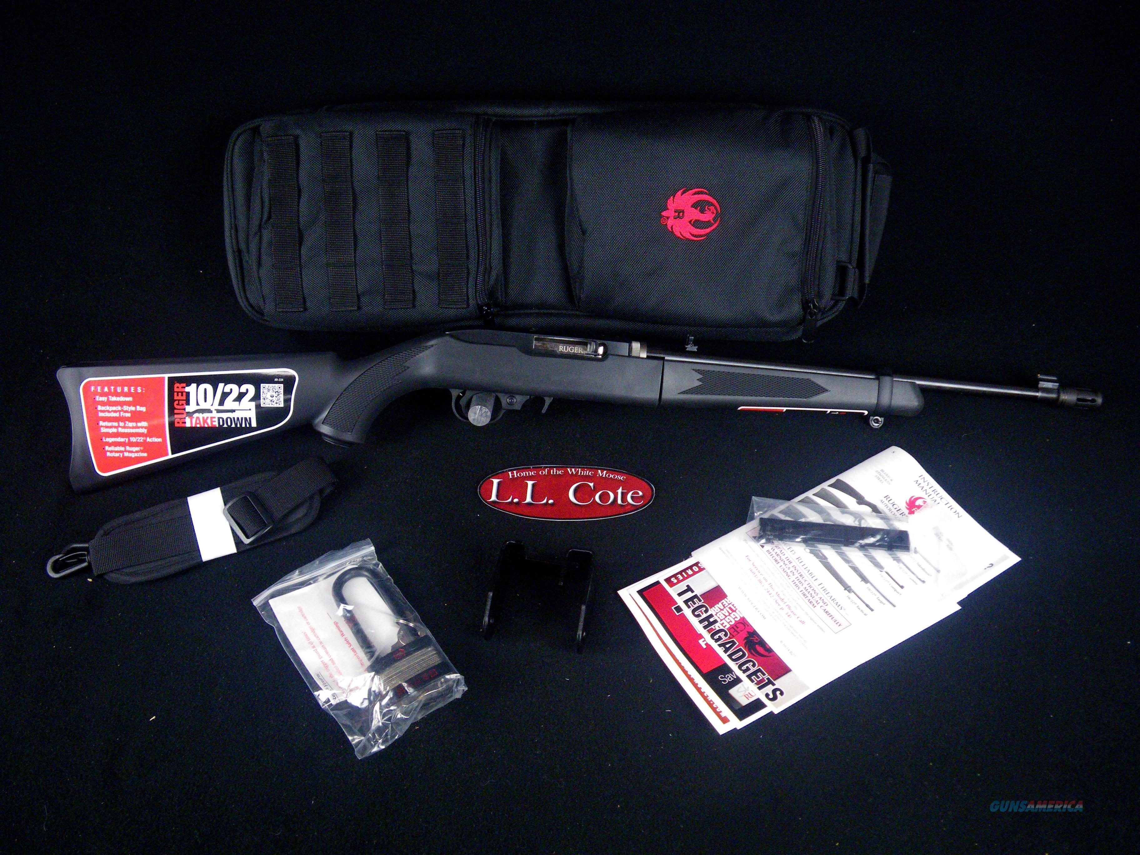 """Ruger 10/22 Takedown 22lr 16.4"""" Black NEW 11112  Guns > Rifles > Ruger Rifles > 10-22"""