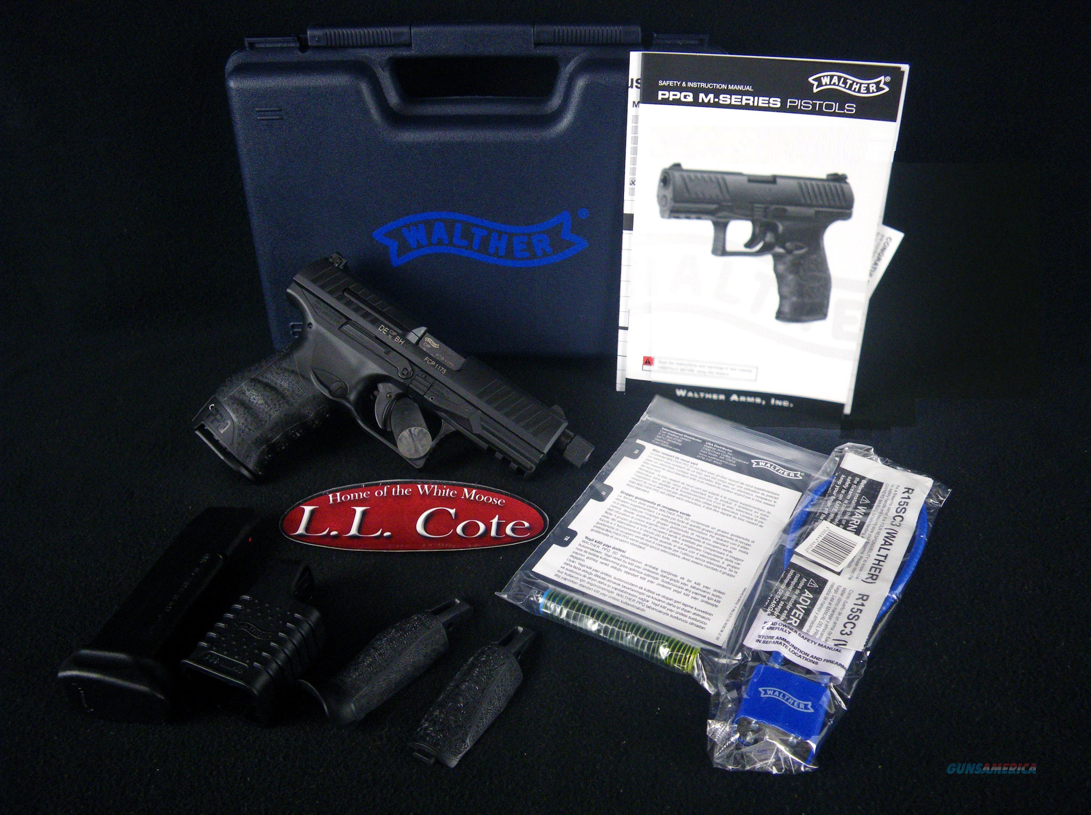 """Walther PPQ M2 Navy 9mm 4.6"""" Threaded NEW 2796082  Guns > Pistols > Walther Pistols > Post WWII > P99/PPQ"""