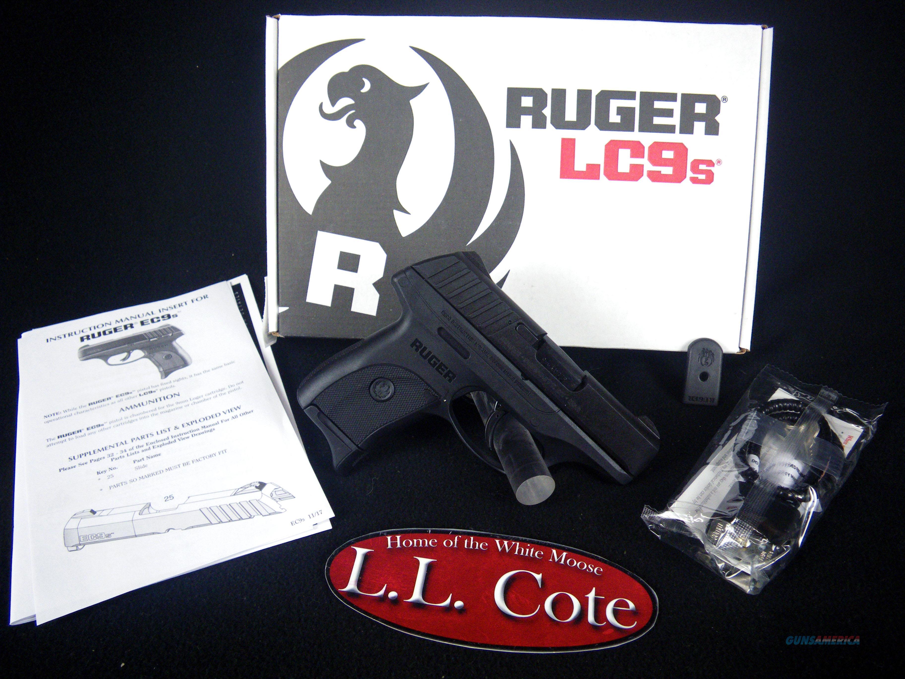 """Ruger EC9s 9mm 3.12"""" NEW Black/Synthetic 3283  Guns > Pistols > Ruger Semi-Auto Pistols > EC9"""