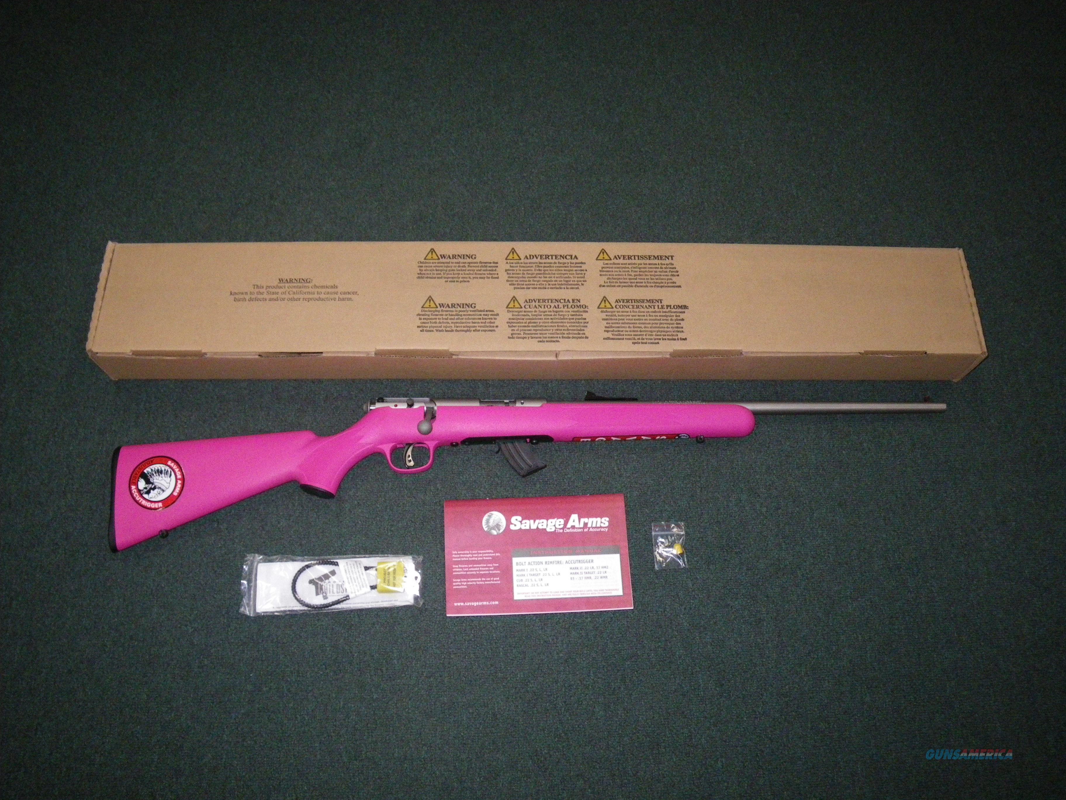 "Savage Rascal Pink Single Shot 22lr 16"" NEW #24200  Guns > Rifles > Savage Rifles > Accutrigger Models > Sporting"