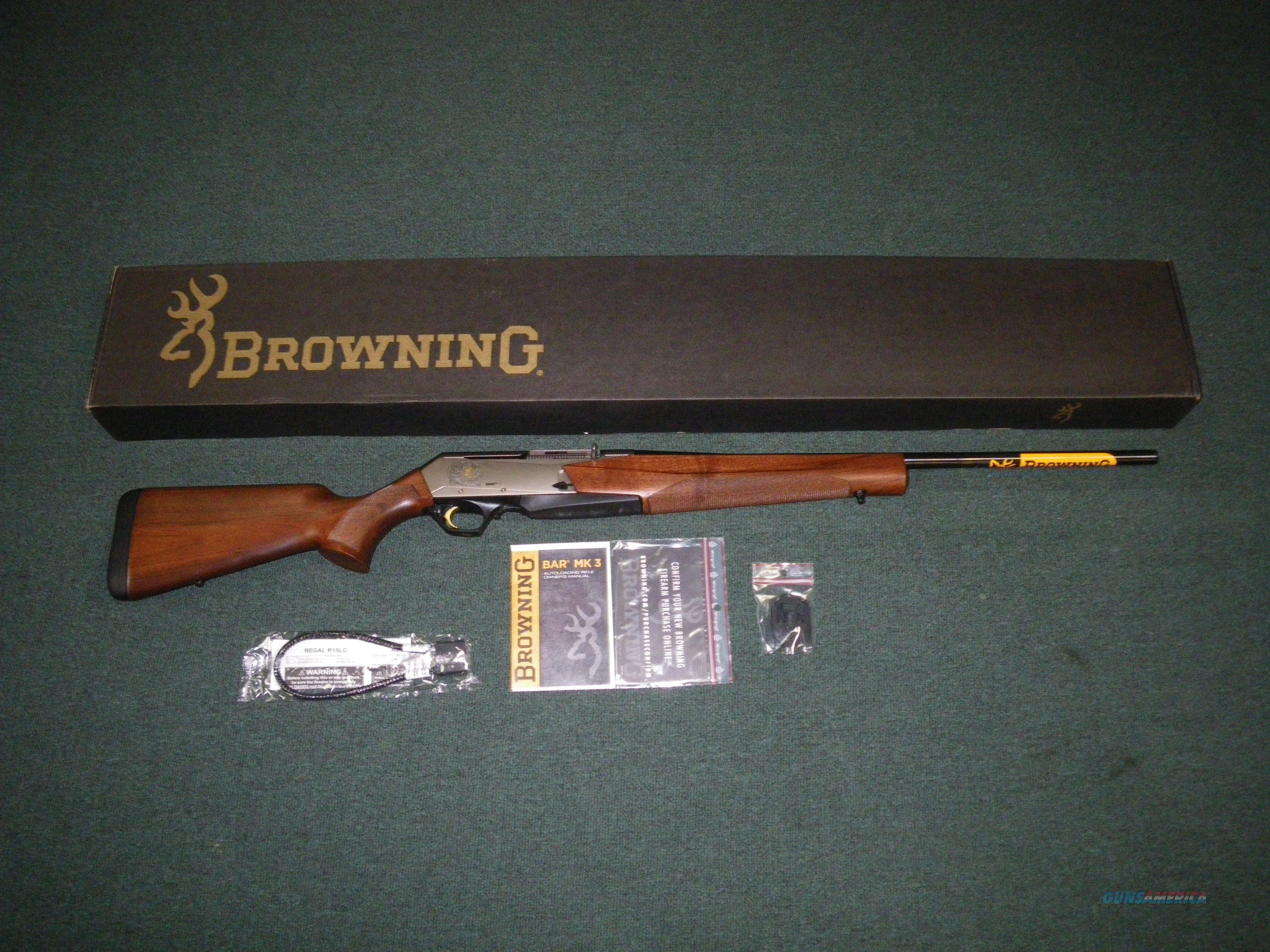 "Browning BAR Mark III Wood/Blue 270 Win 22"" NEW #031047224  Guns > Rifles > Browning Rifles > Semi Auto > Hunting"