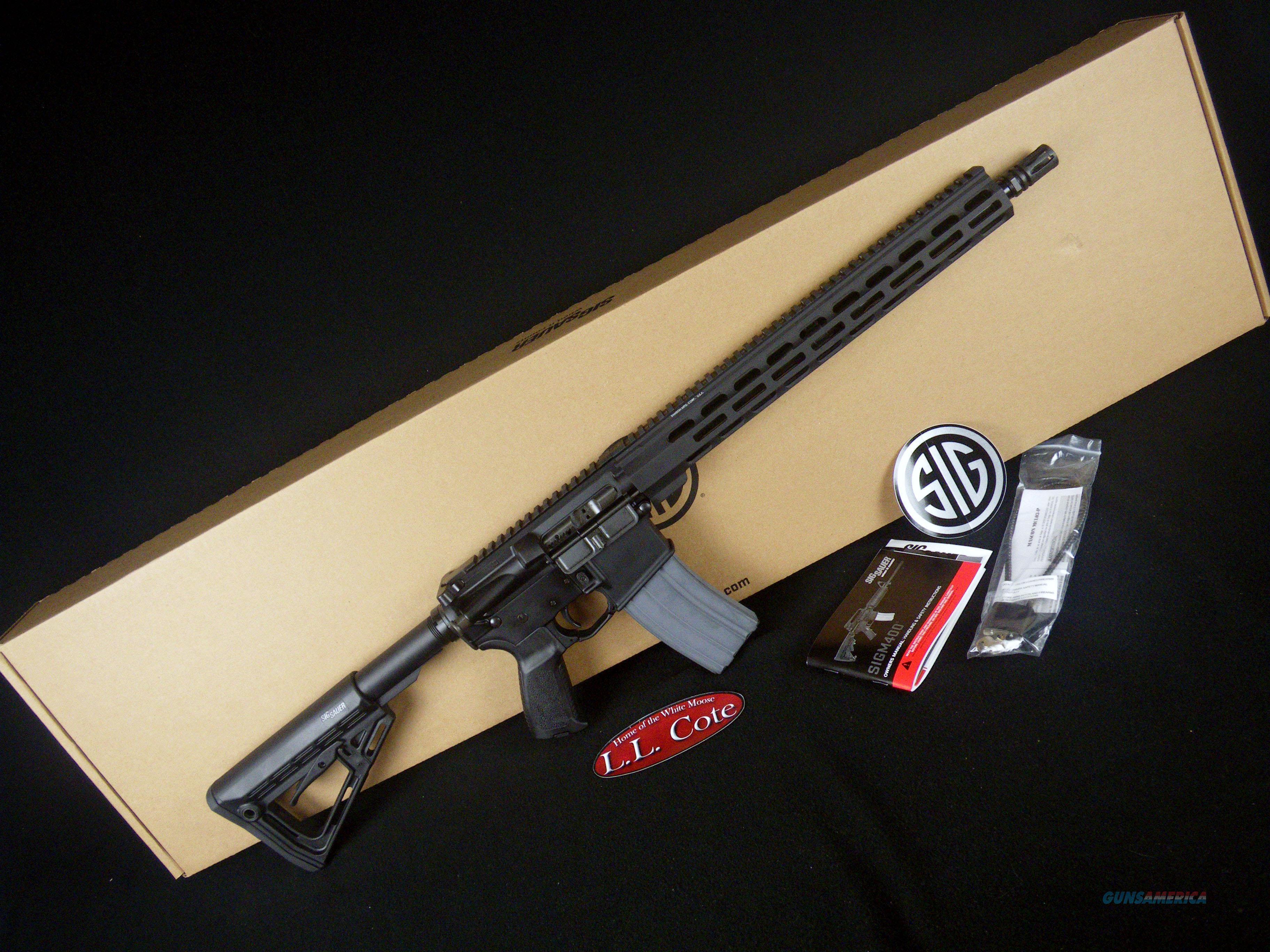 """Sig Sauer SigM400 Elite 5.56 Nato 16"""" Black NEW RM400-16B-E  Guns > Rifles > Sig - Sauer/Sigarms Rifles"""