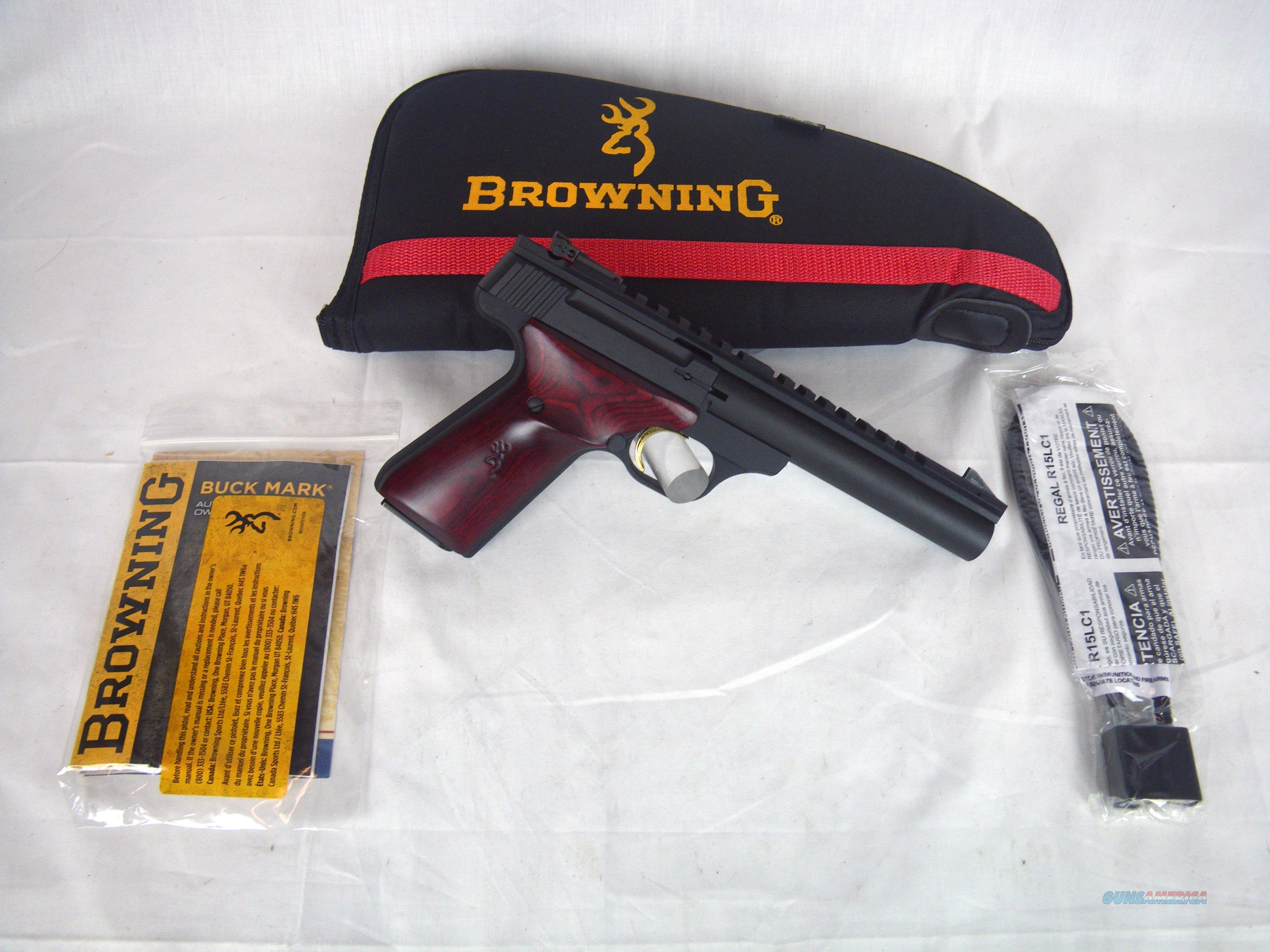 "Browning Buckmark Field Target 22lr 5.5"" Bull NEW #051528490  Guns > Pistols > Browning Pistols > Buckmark"