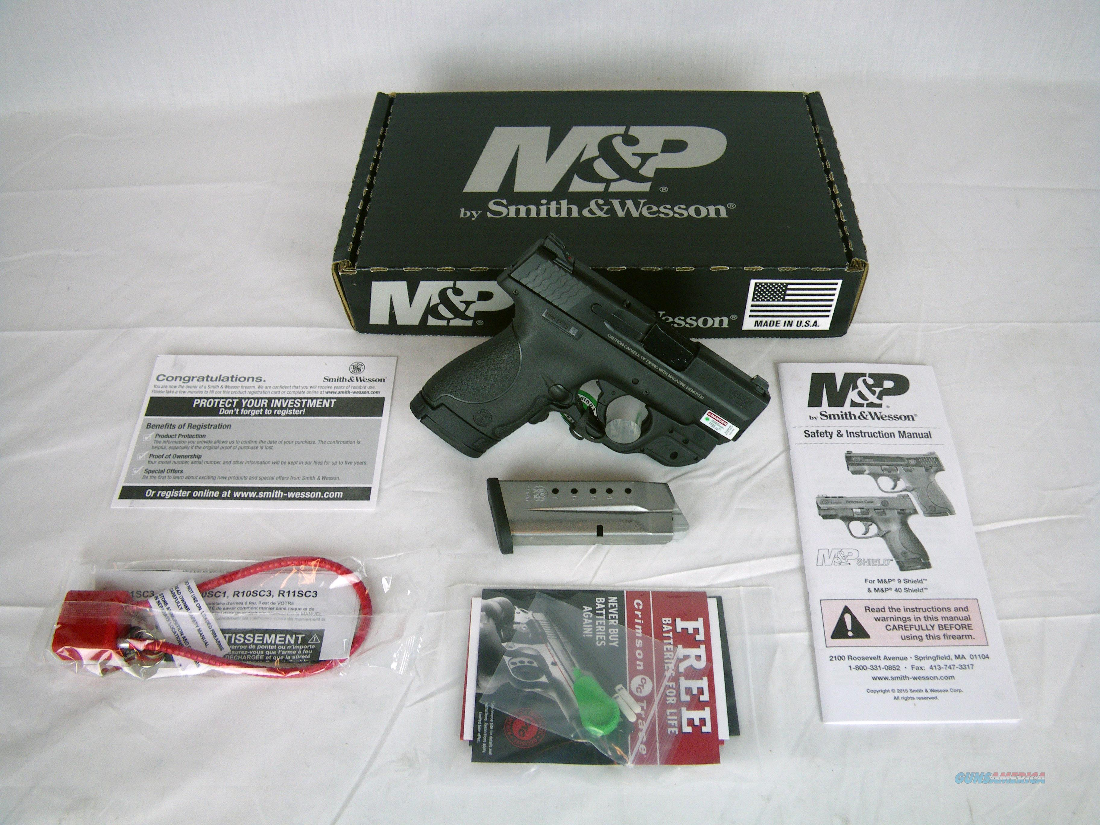 "Smith & Wesson MP Shield 9mm 3.1"" Green Laser NEW #10141  Guns > Pistols > Smith & Wesson Pistols - Autos > Shield"