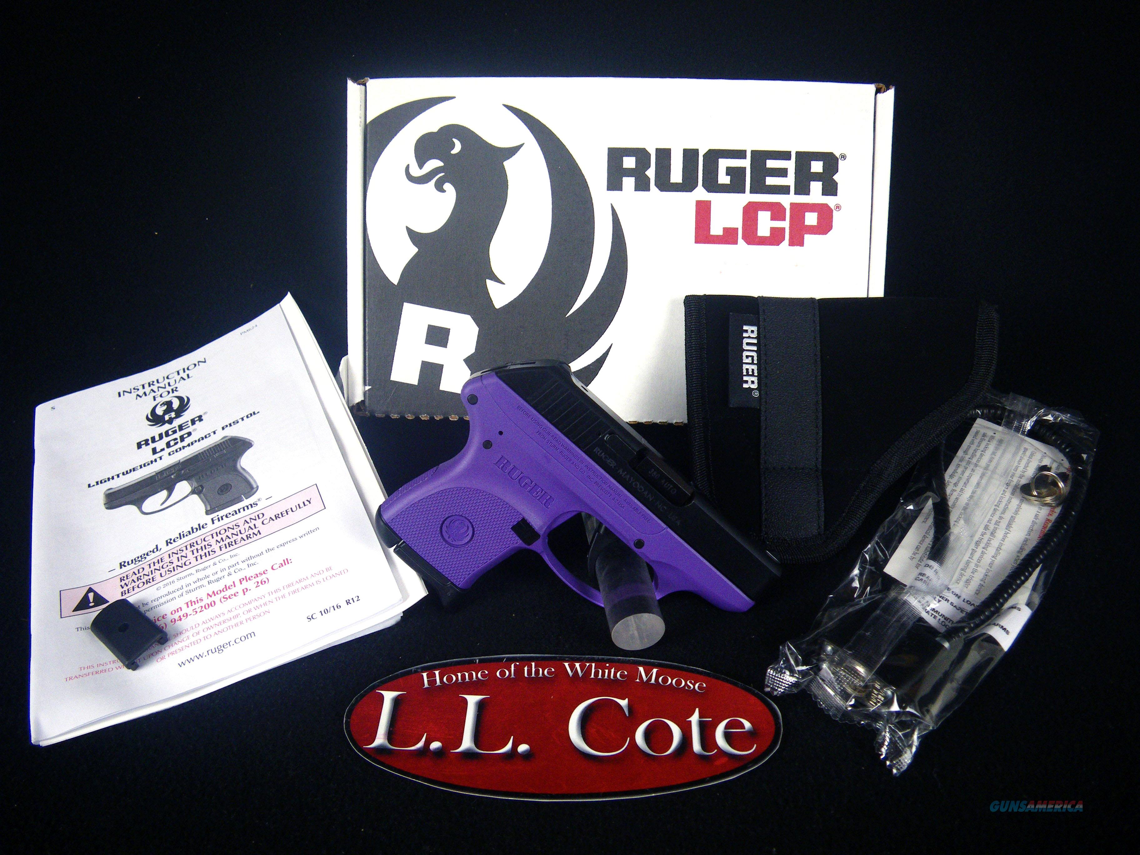 "Ruger LCP Purple/Blued 380ACP 2.75"" NEW 3725  Guns > Pistols > Ruger Semi-Auto Pistols > LCP"