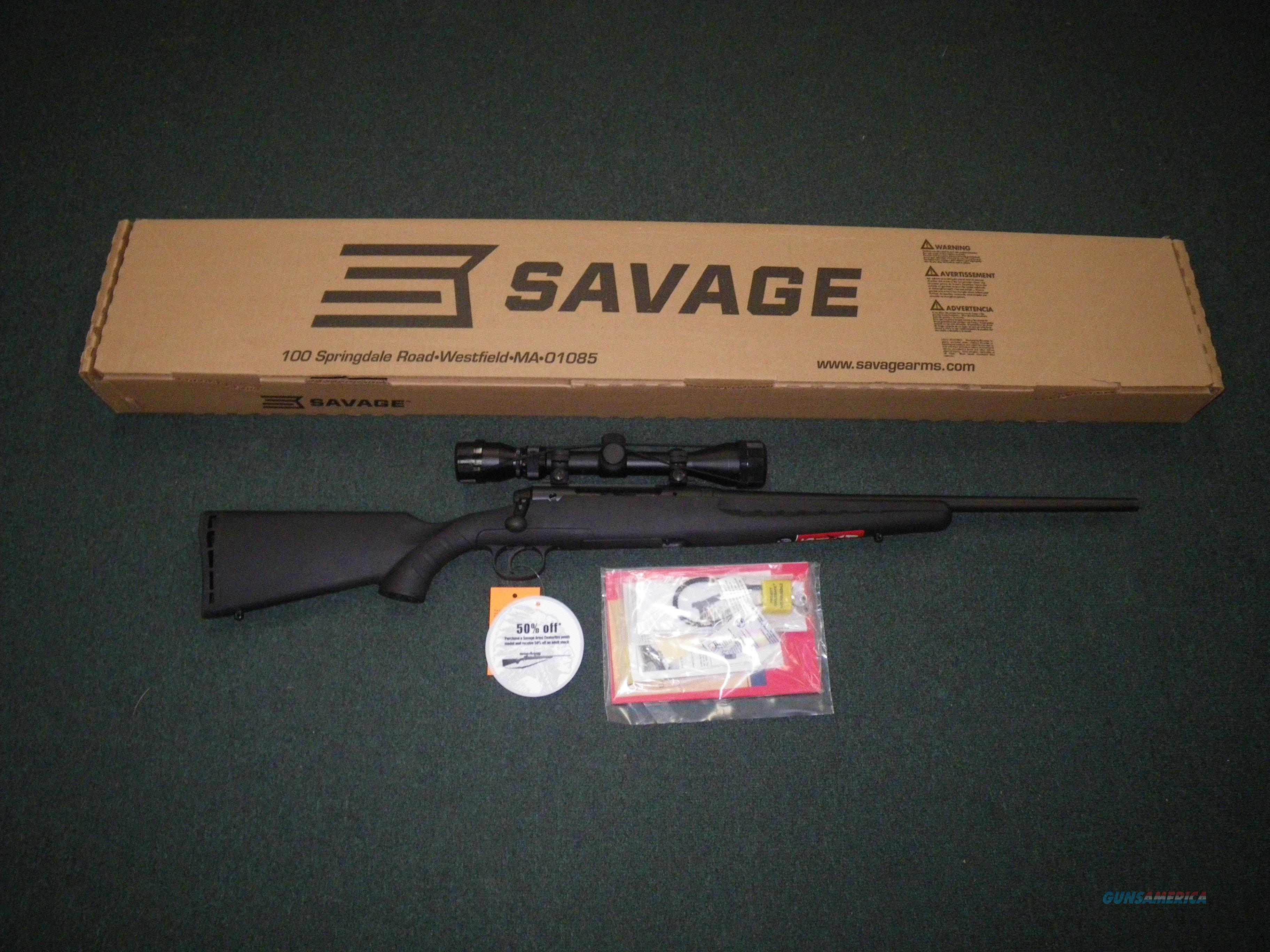"Savage Axis XP Youth Syn Scoped 7mm-08 Rem 20"" NEW #19198  Guns > Rifles > Savage Rifles > Axis"