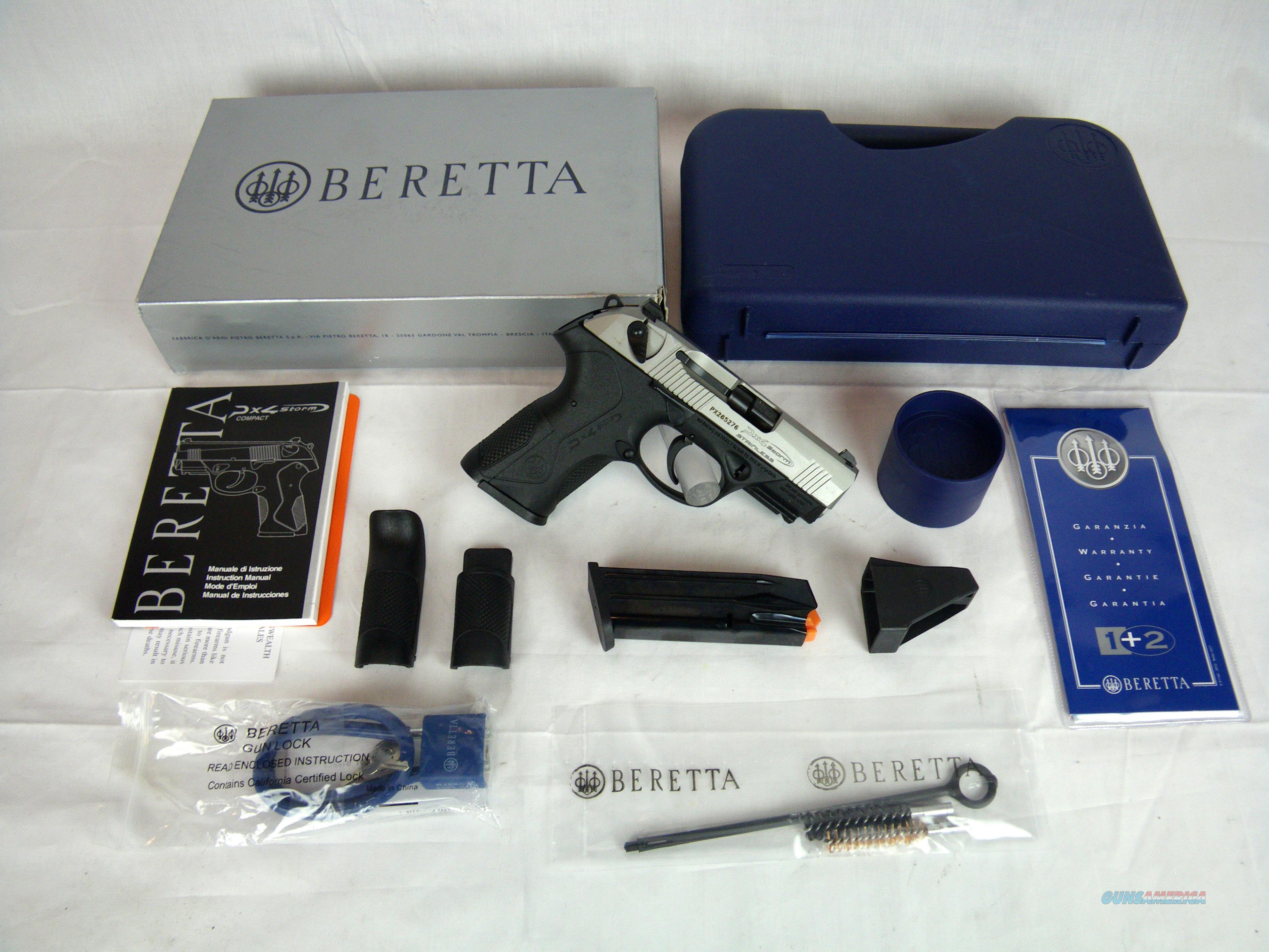 """Beretta PX4 Storm Compact Inox 9mm 3.27"""" SS NEW #JXC9F51  Guns > Pistols > Beretta Pistols > Polymer Frame"""