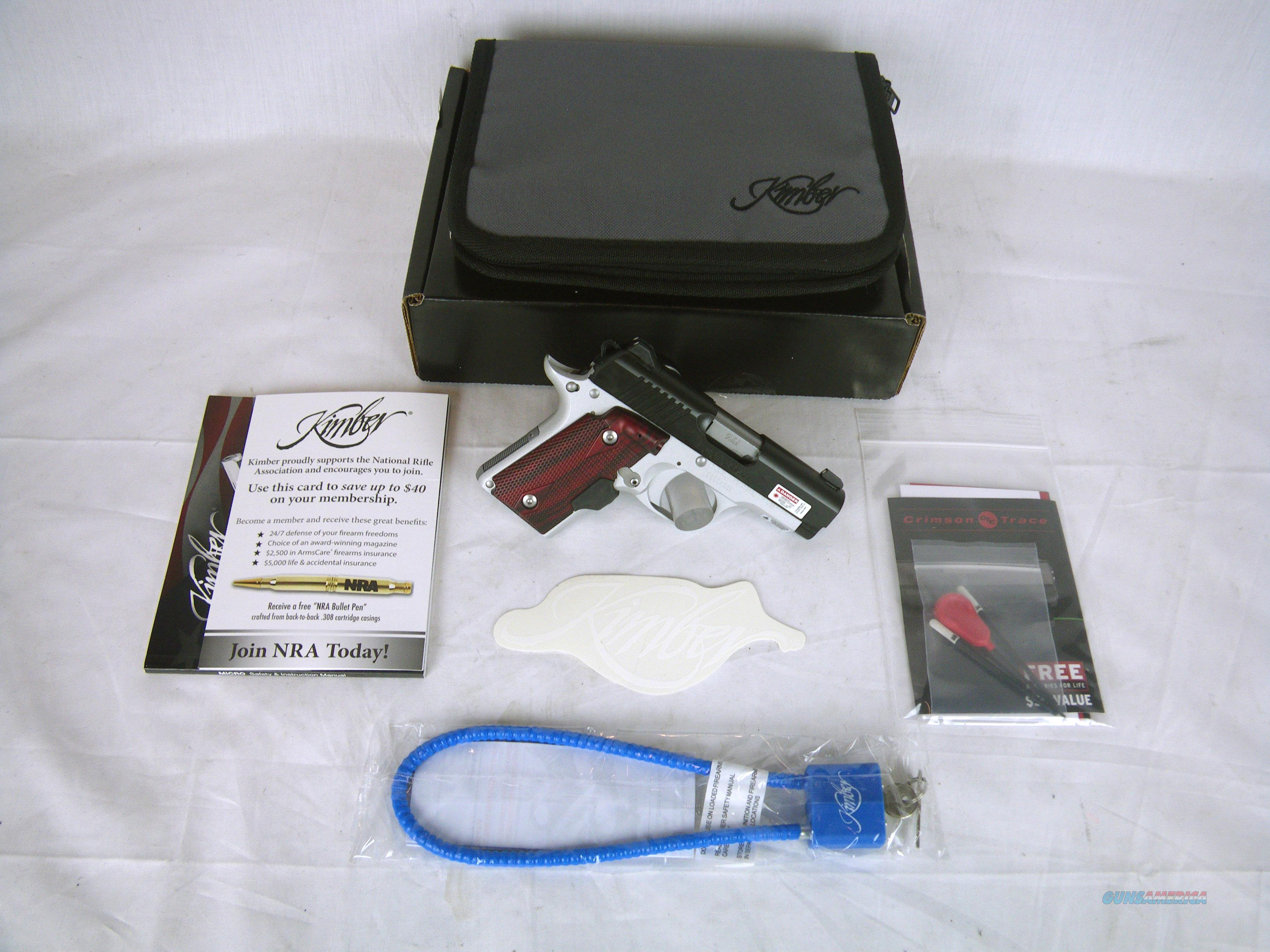 "Kimber Micro 9 Crimson Carry 9mm 3.15"" NEW Laser #3300101  Guns > Pistols > Kimber of America Pistols > Micro 9"