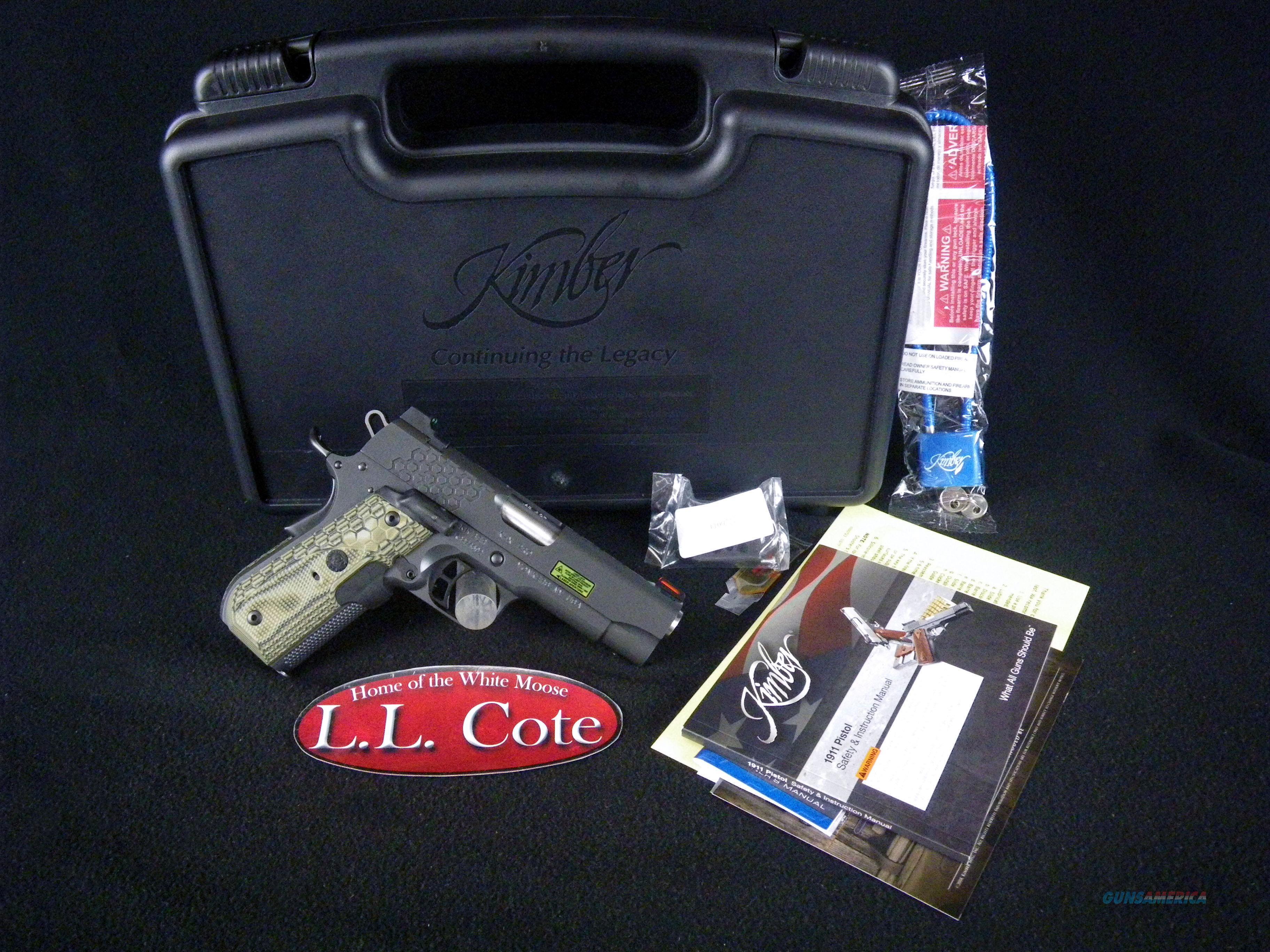 "Kimber KHX Pro 45ACP 4"" Lasergrips NEW 3000361  Guns > Pistols > Kimber of America Pistols > 1911"