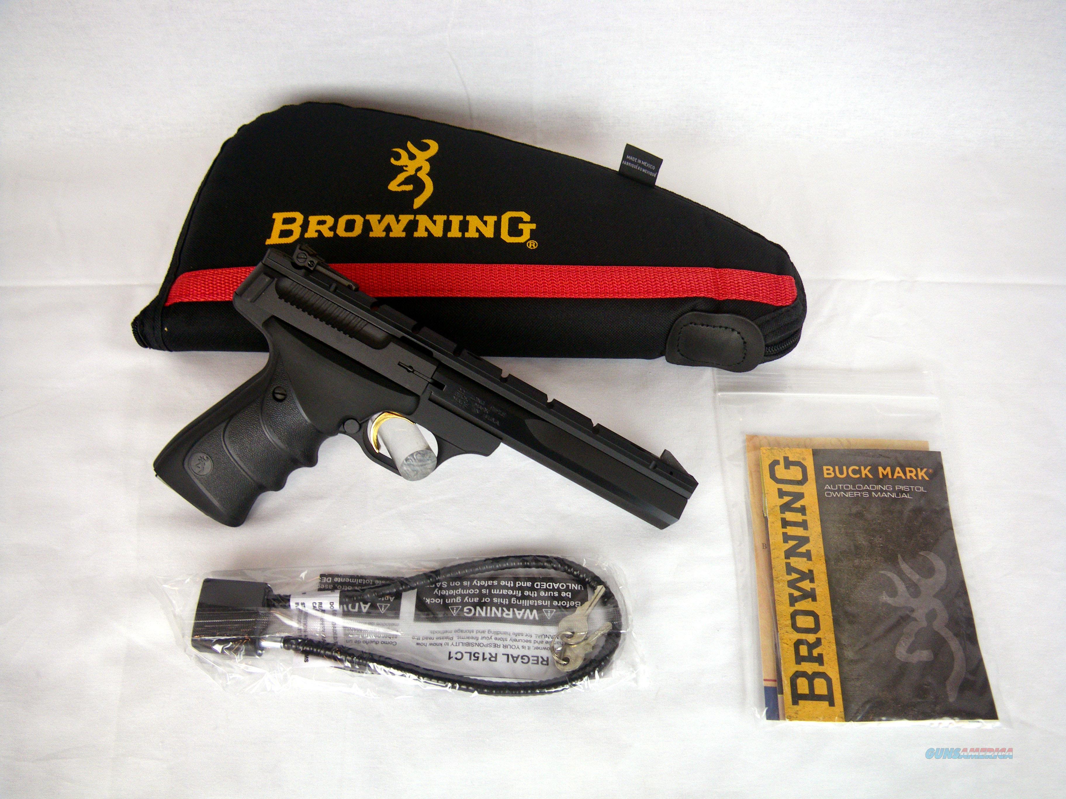 "Browning Buckmark Contour URX 22lr 5.5"" NEW W/Rail #051421490  Guns > Pistols > Browning Pistols > Buckmark"