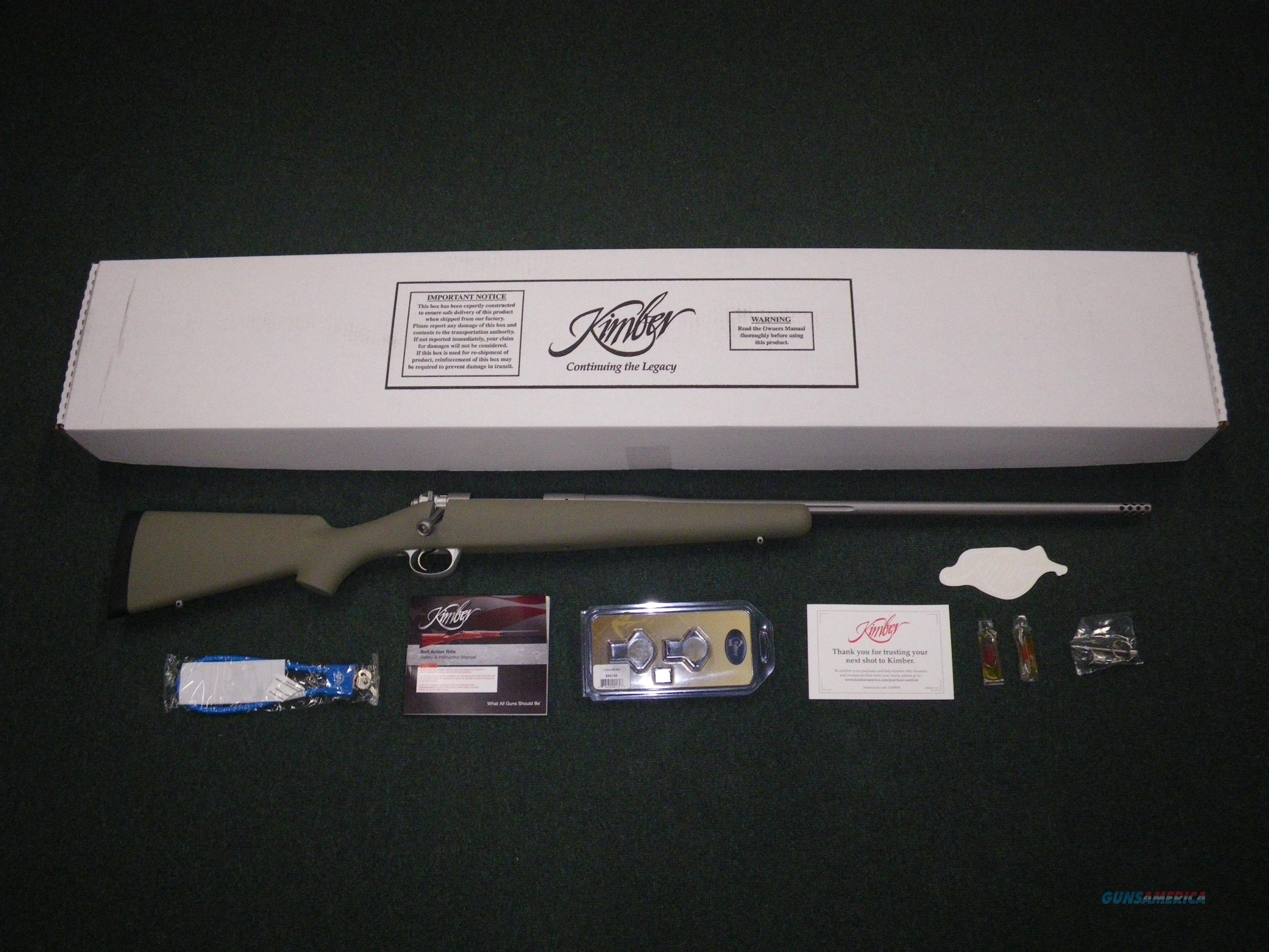 "Kimber Mountain Ascent Moss Green 280 Ack Imp 24"" NEW #3000825  Guns > Rifles > Kimber of America Rifles"