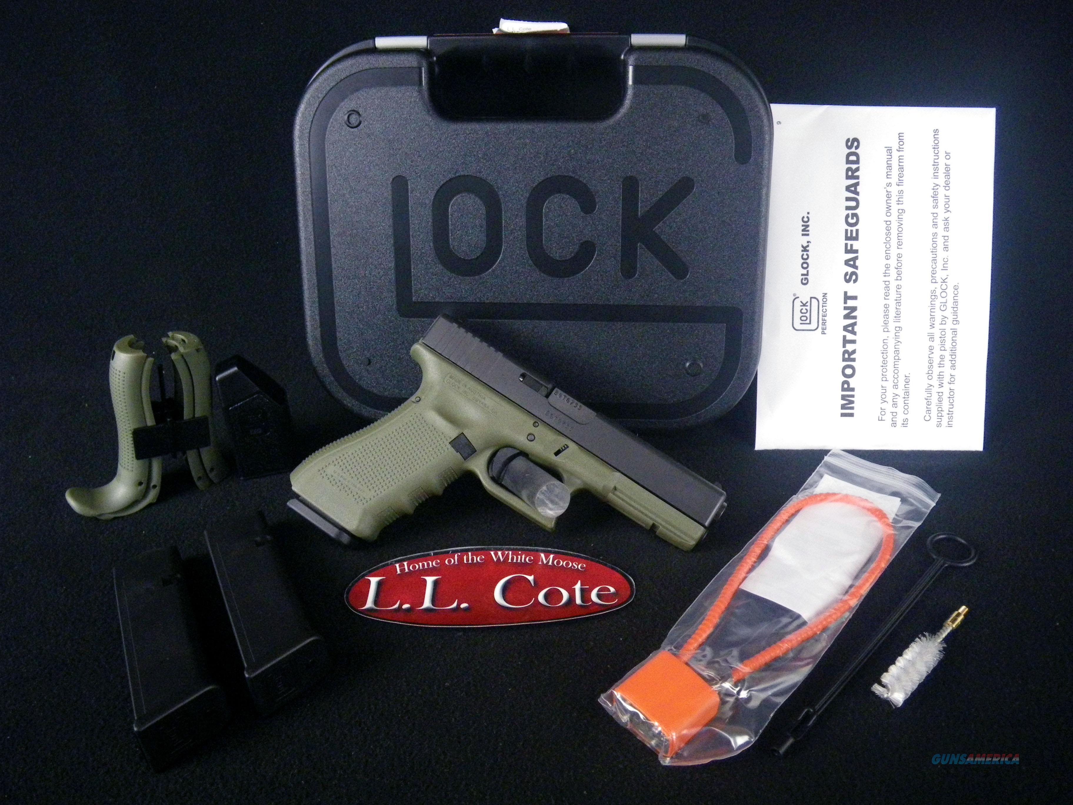 """Glock 17 Gen4 9mm 4.49"""" BF Green NEW PG1750203BFG  Guns > Pistols > Glock Pistols > 17"""