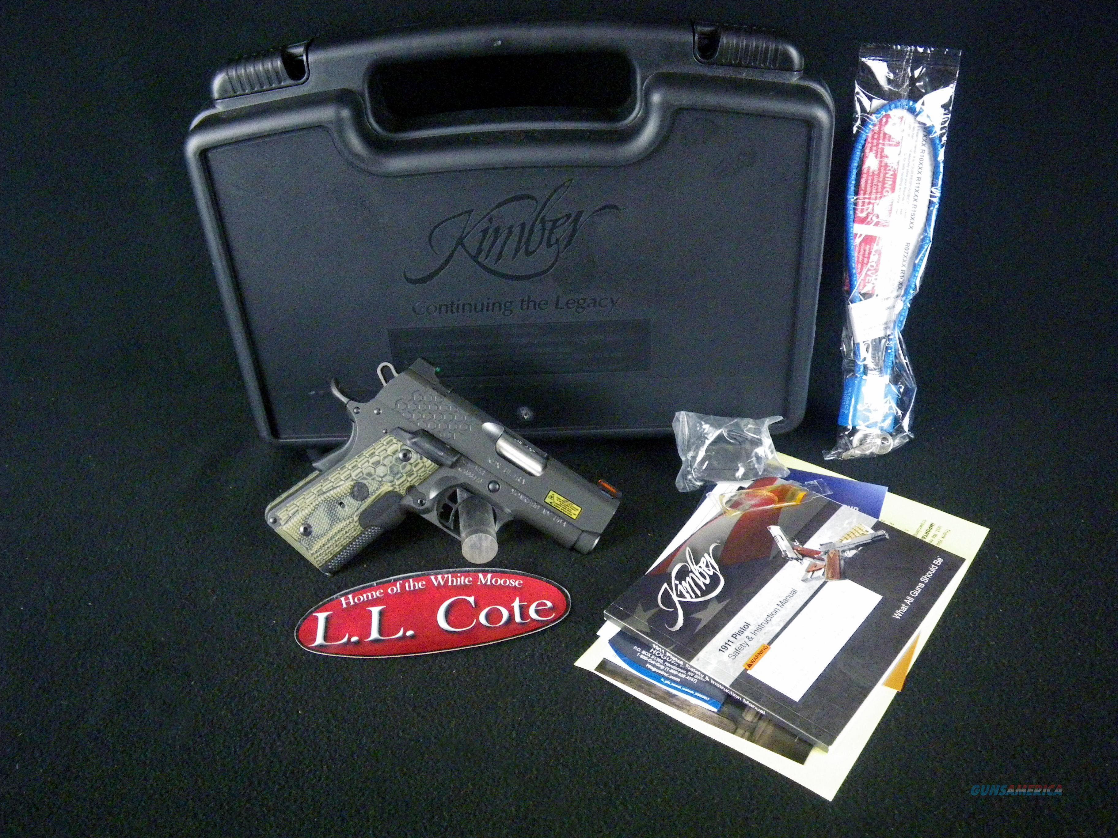 "Kimber KHX Ultra 45ACP 3"" Lasergrip NEW 3000371  Guns > Pistols > Kimber of America Pistols > 1911"