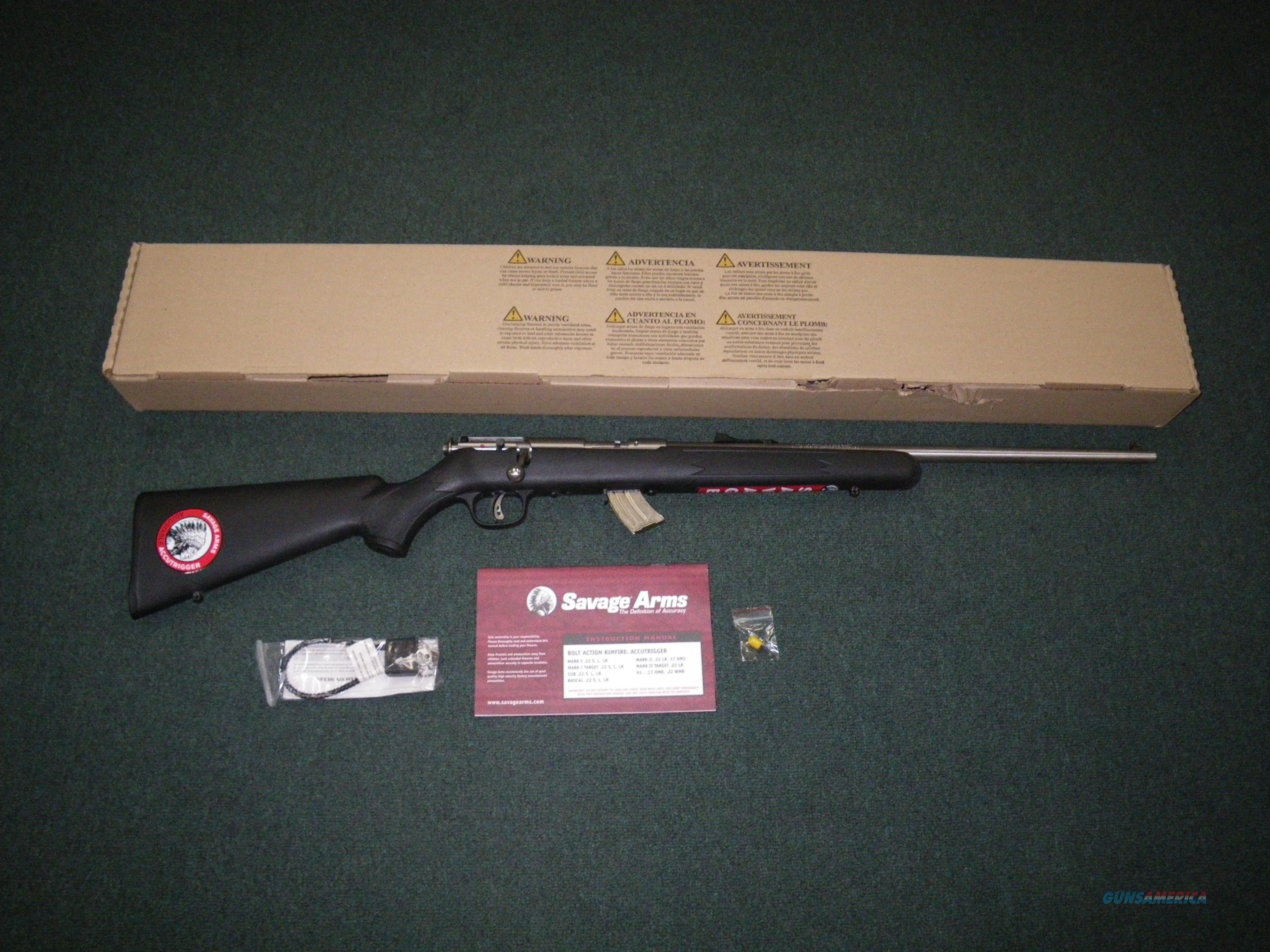 "Savage Mark II FSS 22lr 21"" NEW Accutrigger #24700  Guns > Rifles > Savage Rifles > Standard Bolt Action > Sporting"
