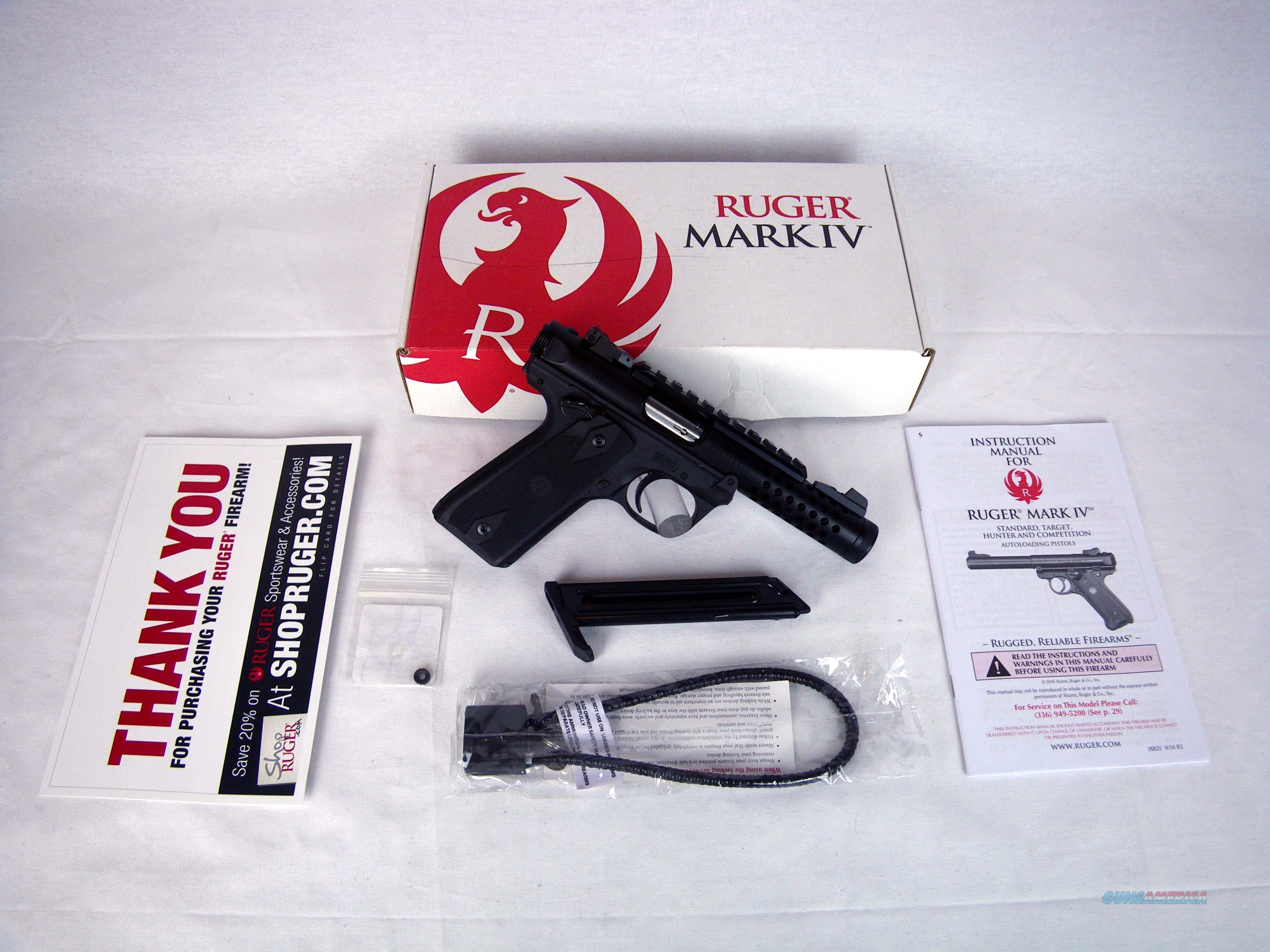 "Ruger Mark IV 22/45 Lite Threaded 22lr 4.4"" NEW 43906  Guns > Pistols > Ruger Semi-Auto Pistols > Mark I/II/III/IV Family"