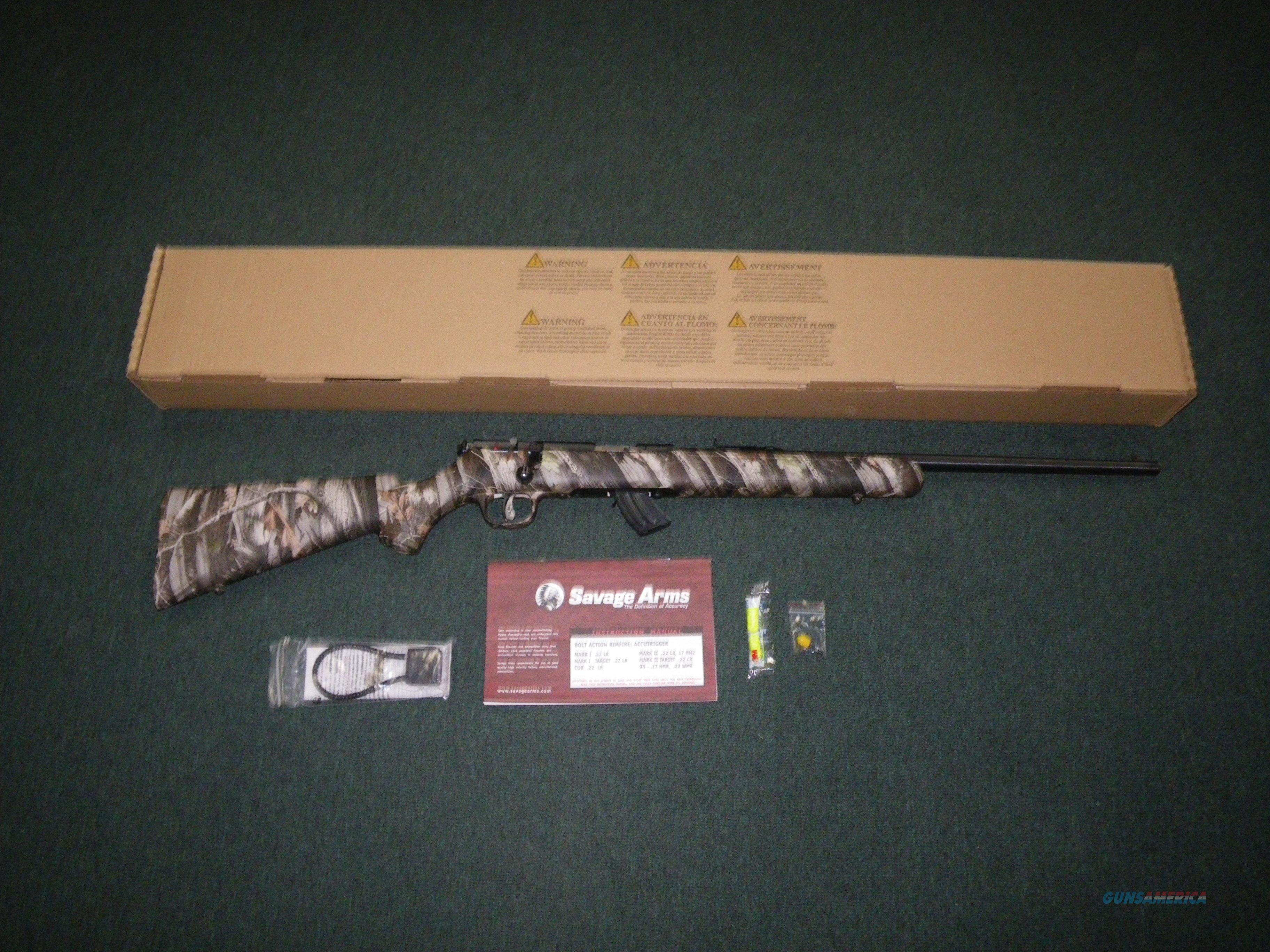 "Savage Mark II Camo 22lr 21"" NEW Accutrigger 26800  Guns > Rifles > Savage Rifles > Rimfire"