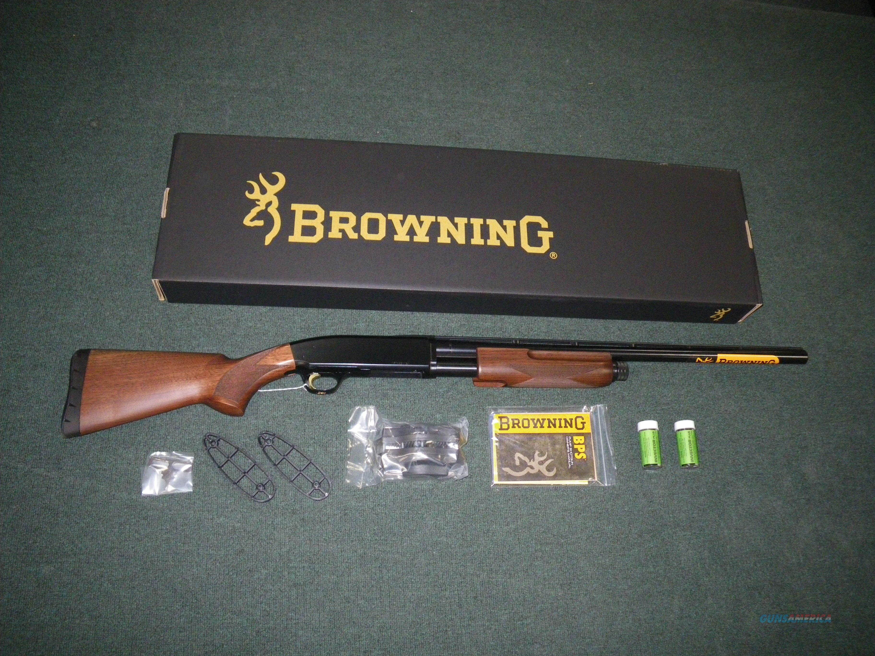 "Browning BPS Micro Midas Wood/Blue 20ga 24"" NEW 3"" 012270606  Guns > Shotguns > Browning Shotguns > Pump Action > Hunting"