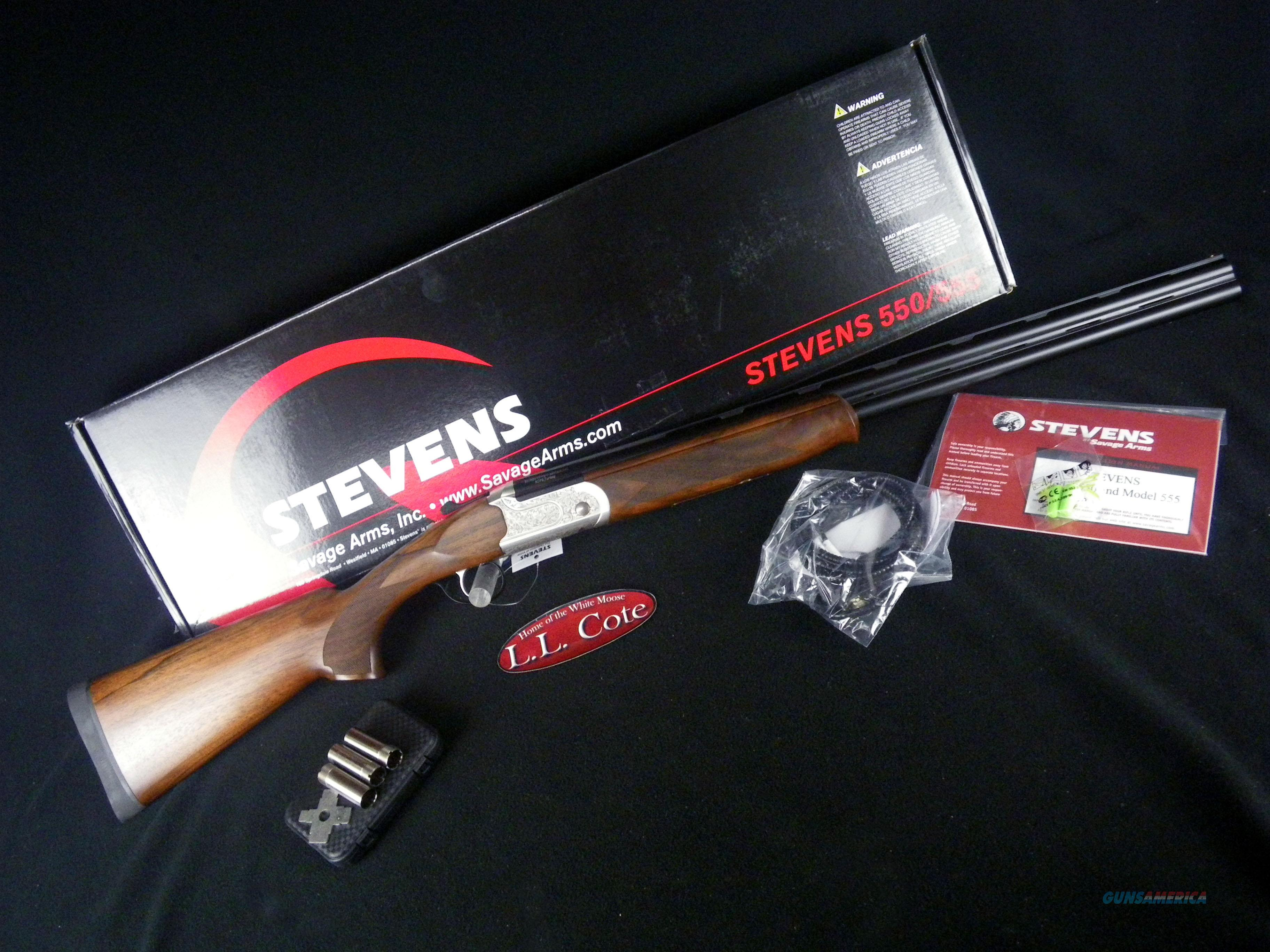 """Savage Stevens 555 12ga 28"""" Walnut NEW 22592  Guns > Shotguns > Savage Shotguns"""
