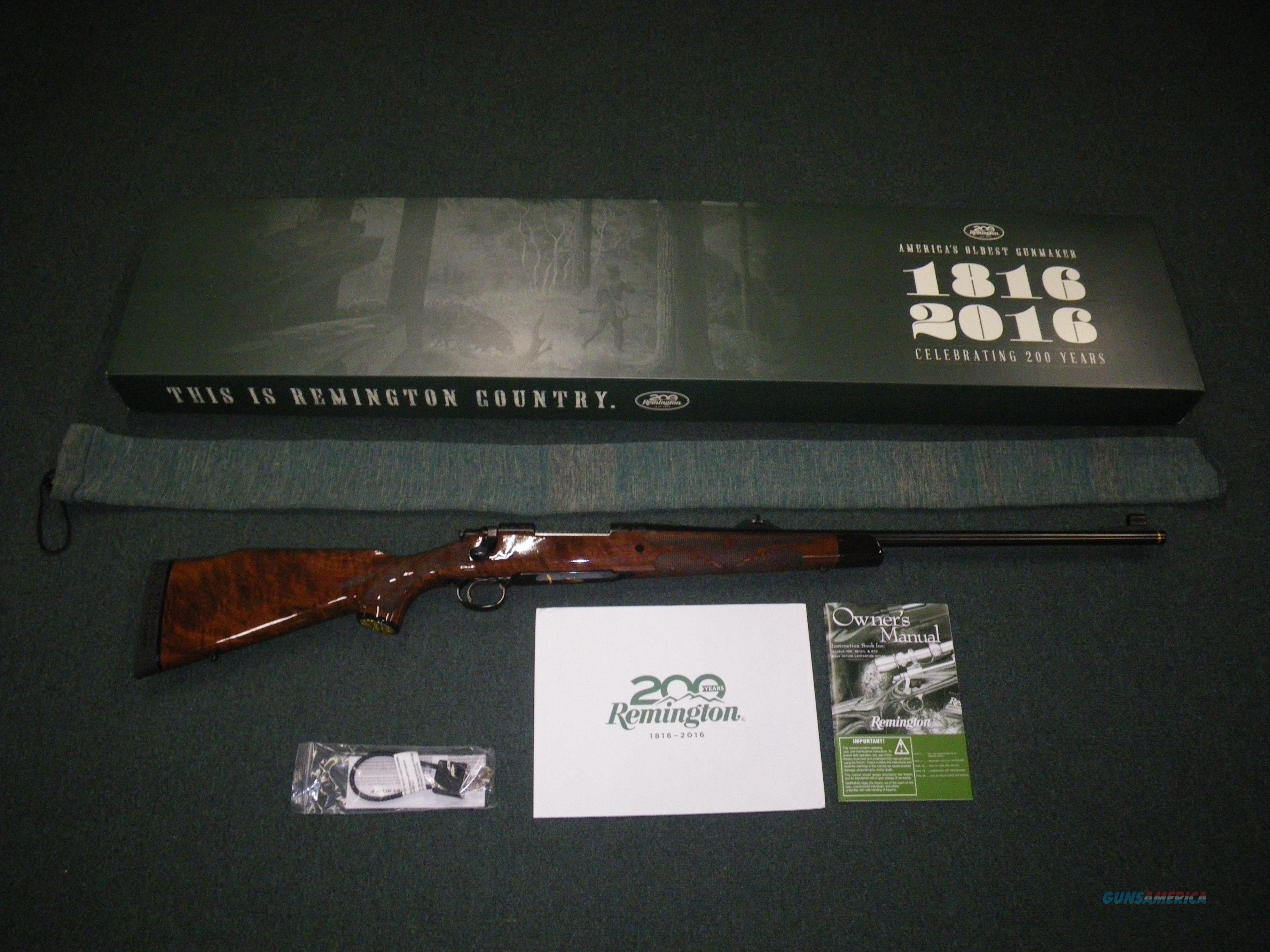 "Remington Model 700 200th Anniv 7mm Rem Mag 24"" NEW #84042  Guns > Rifles > Remington Rifles - Modern > Model 700 > Sporting"