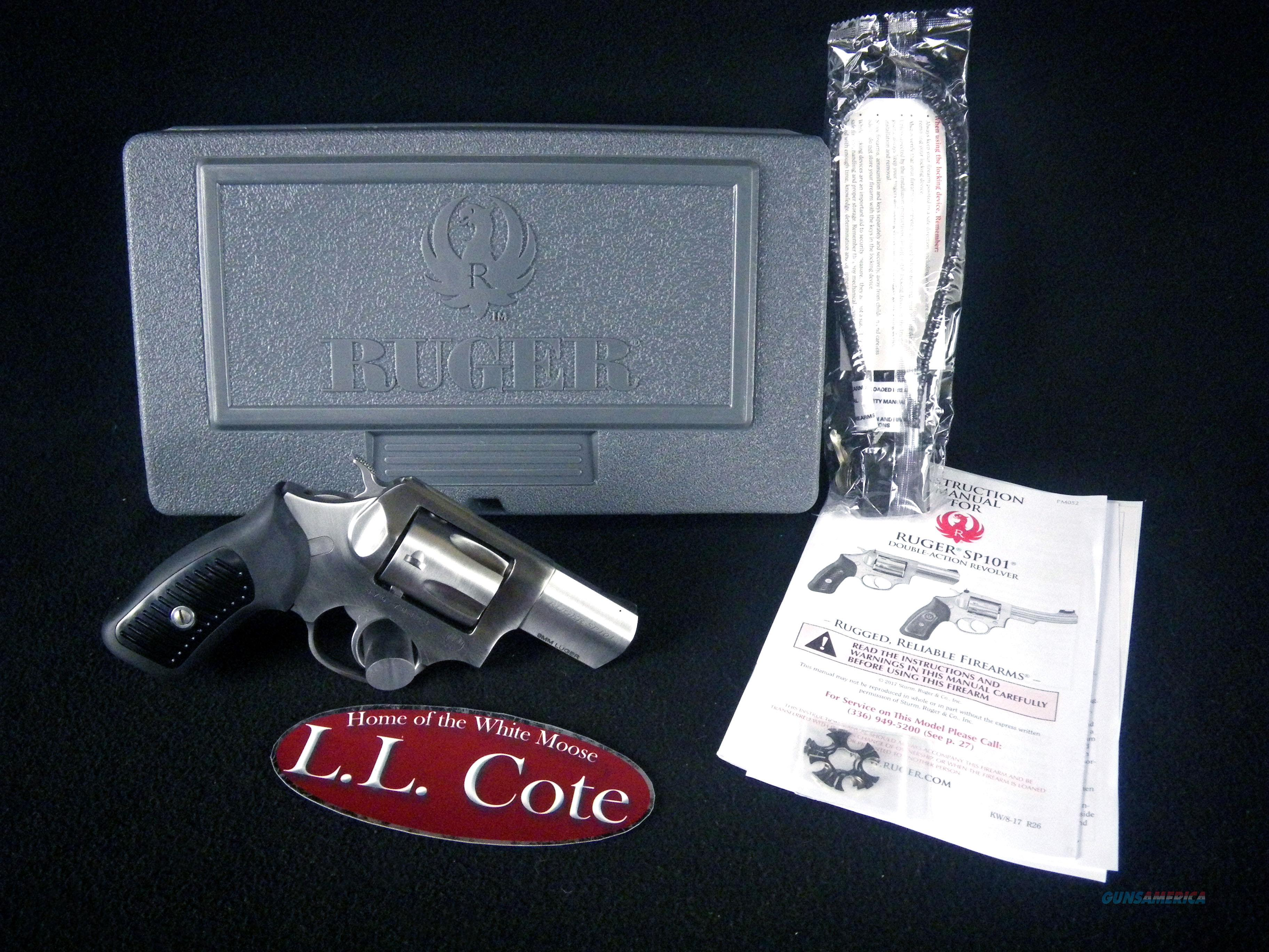 """Ruger SP101 Synthetic/Stainless 9mm 2.25"""" NEW 5783  Guns > Pistols > Ruger Double Action Revolver > SP101 Type"""