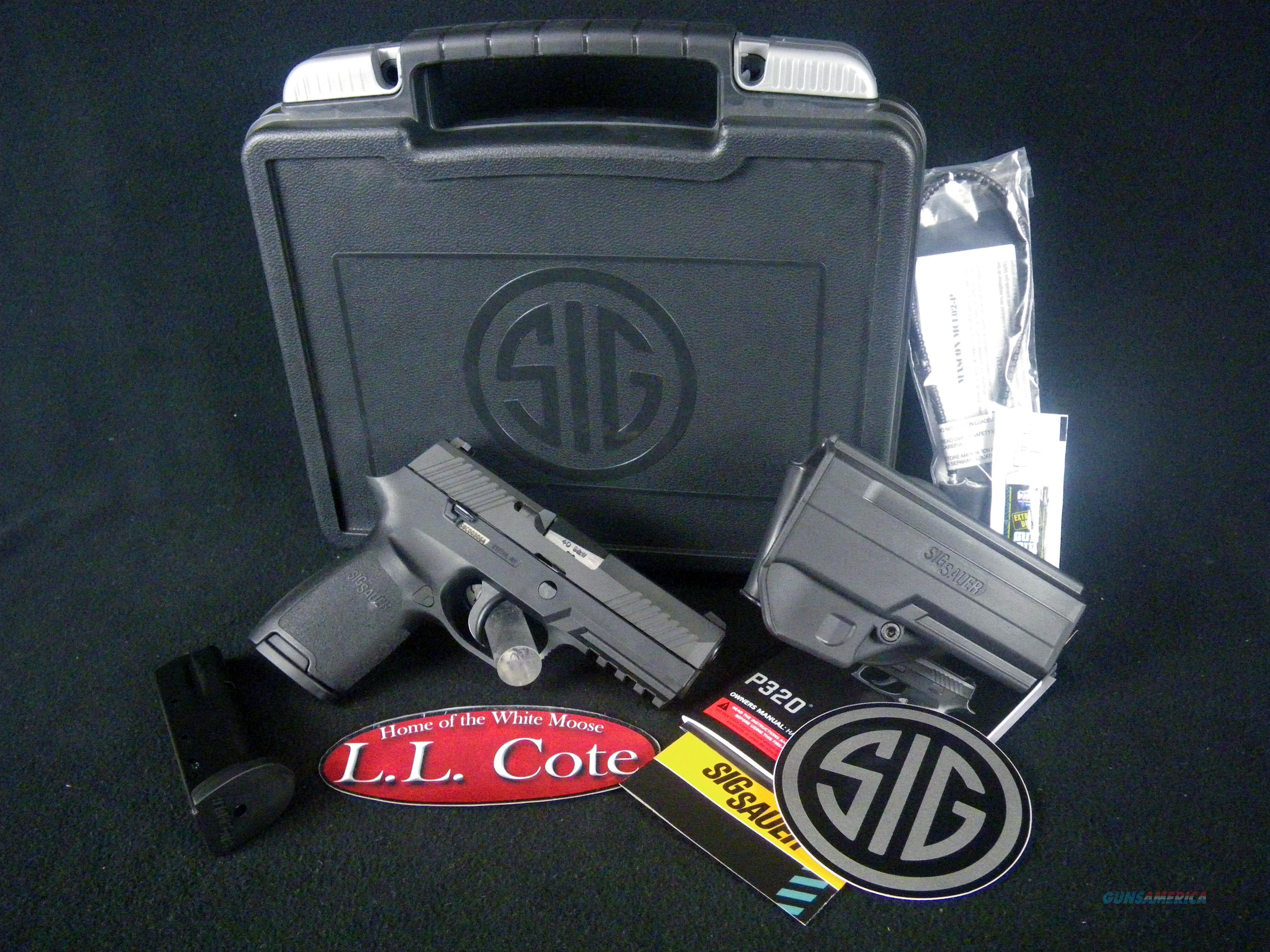 "Sig Sauer P320 Nitron Compact 40S&W 3.9"" Black NEW 320C-40-B  Guns > Pistols > Sig - Sauer/Sigarms Pistols > P320"