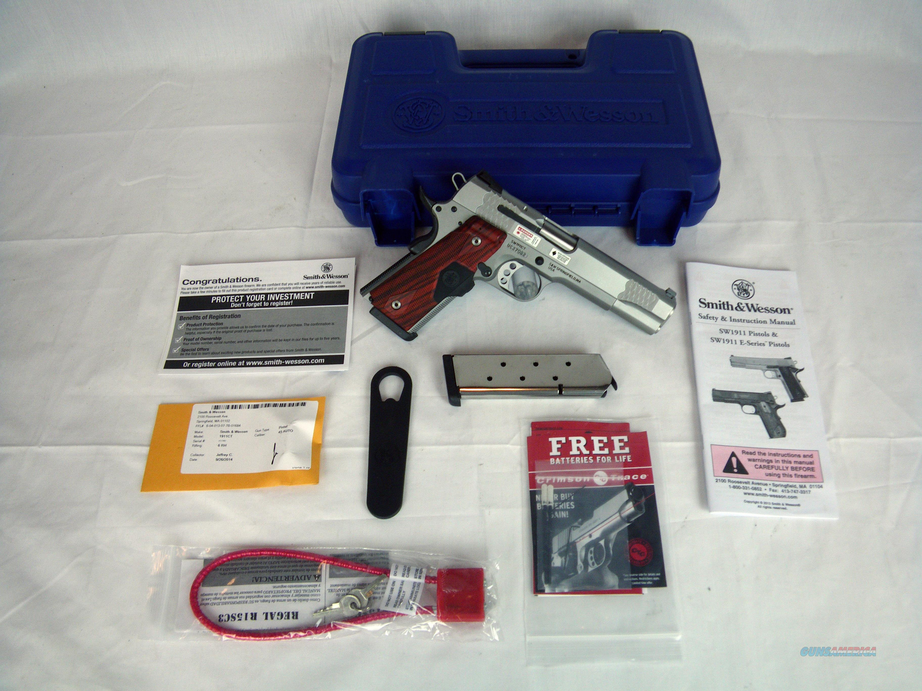 "Smith & Wesson SW1911 Crimson Trace 45ACP 5"" NEW #108495  Guns > Pistols > Smith & Wesson Pistols - Autos > Steel Frame"