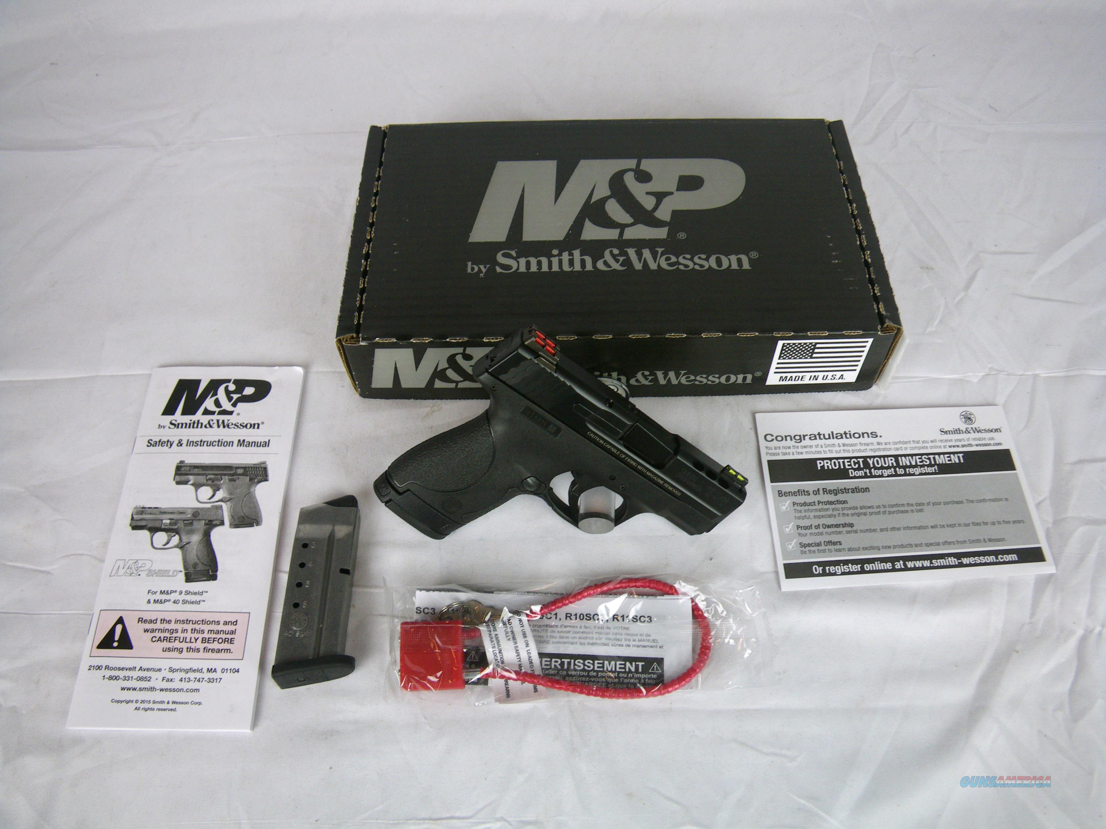 "Smith & Wesson M&P Shield 40 S&W 3.1"" Ported NEW #10109SW  Guns > Pistols > Smith & Wesson Pistols - Autos > Polymer Frame"
