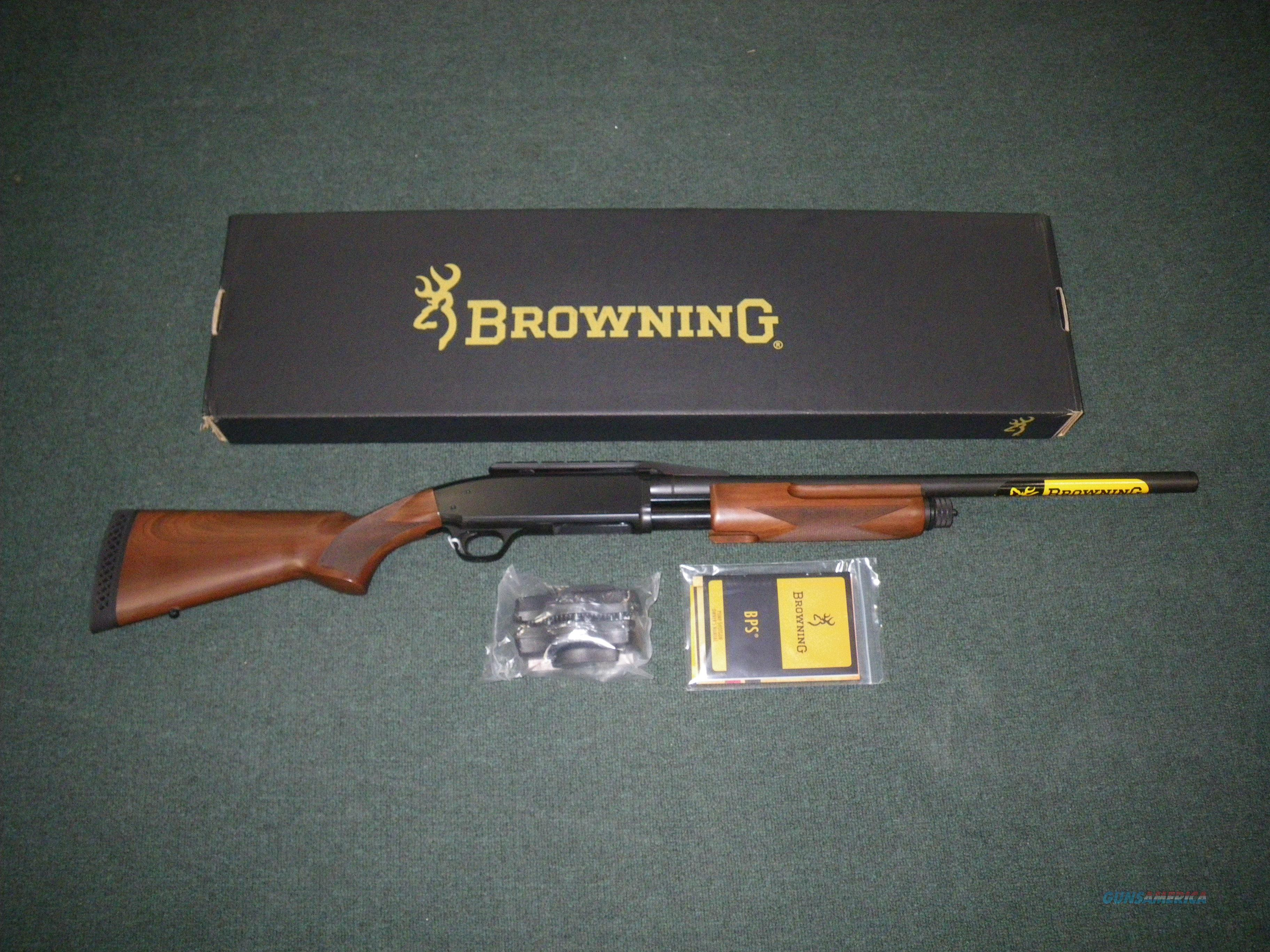 "Browning BPS Rifled Deer Hunter 12ga 22"" Wood NEW #012214324  Guns > Shotguns > Browning Shotguns > Pump Action > Hunting"