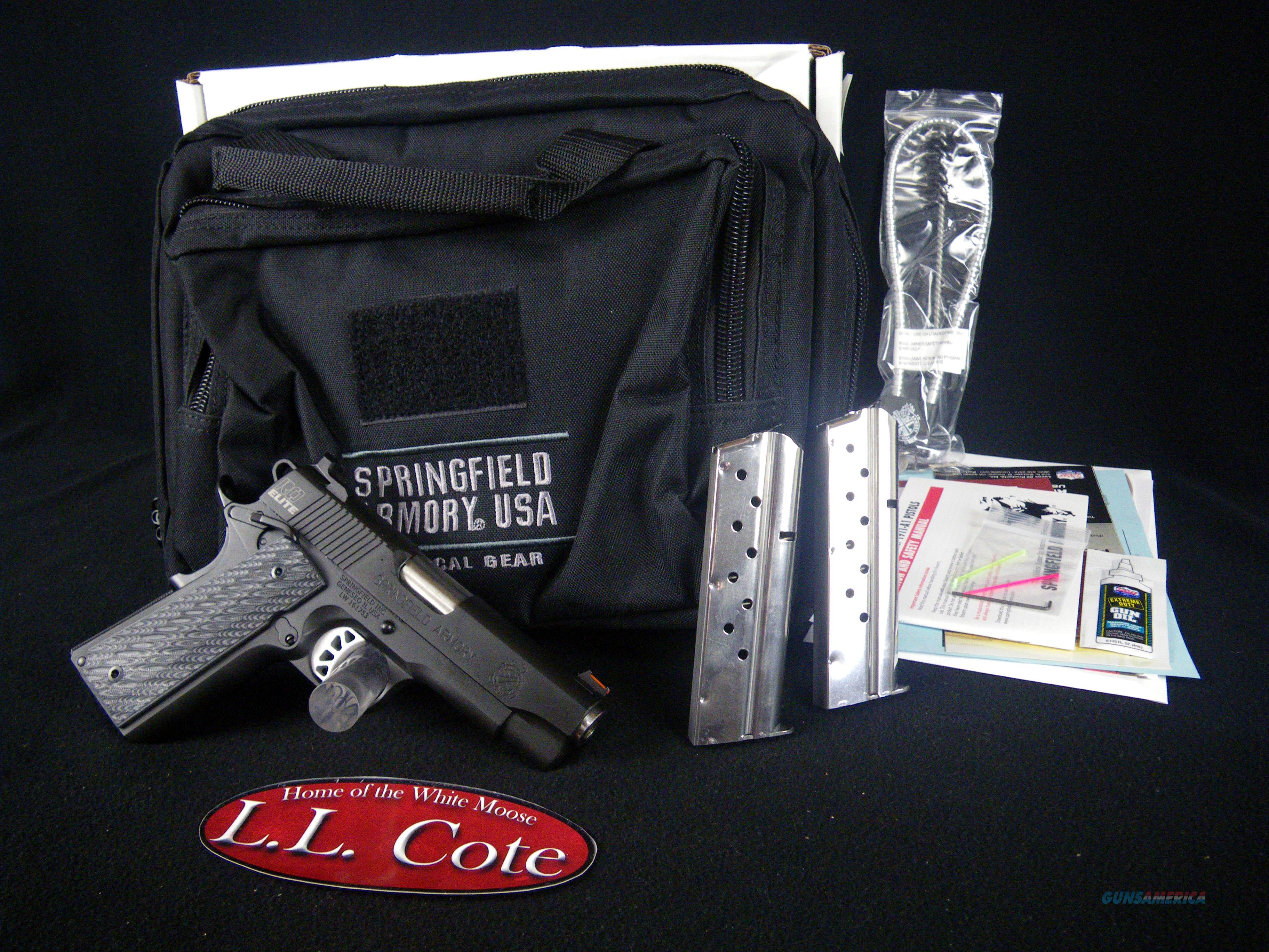 "Springfield 1911 RO Elite Champion 9mm 4"" NEW PI9137E  Guns > Pistols > Springfield Armory Pistols > 1911 Type"